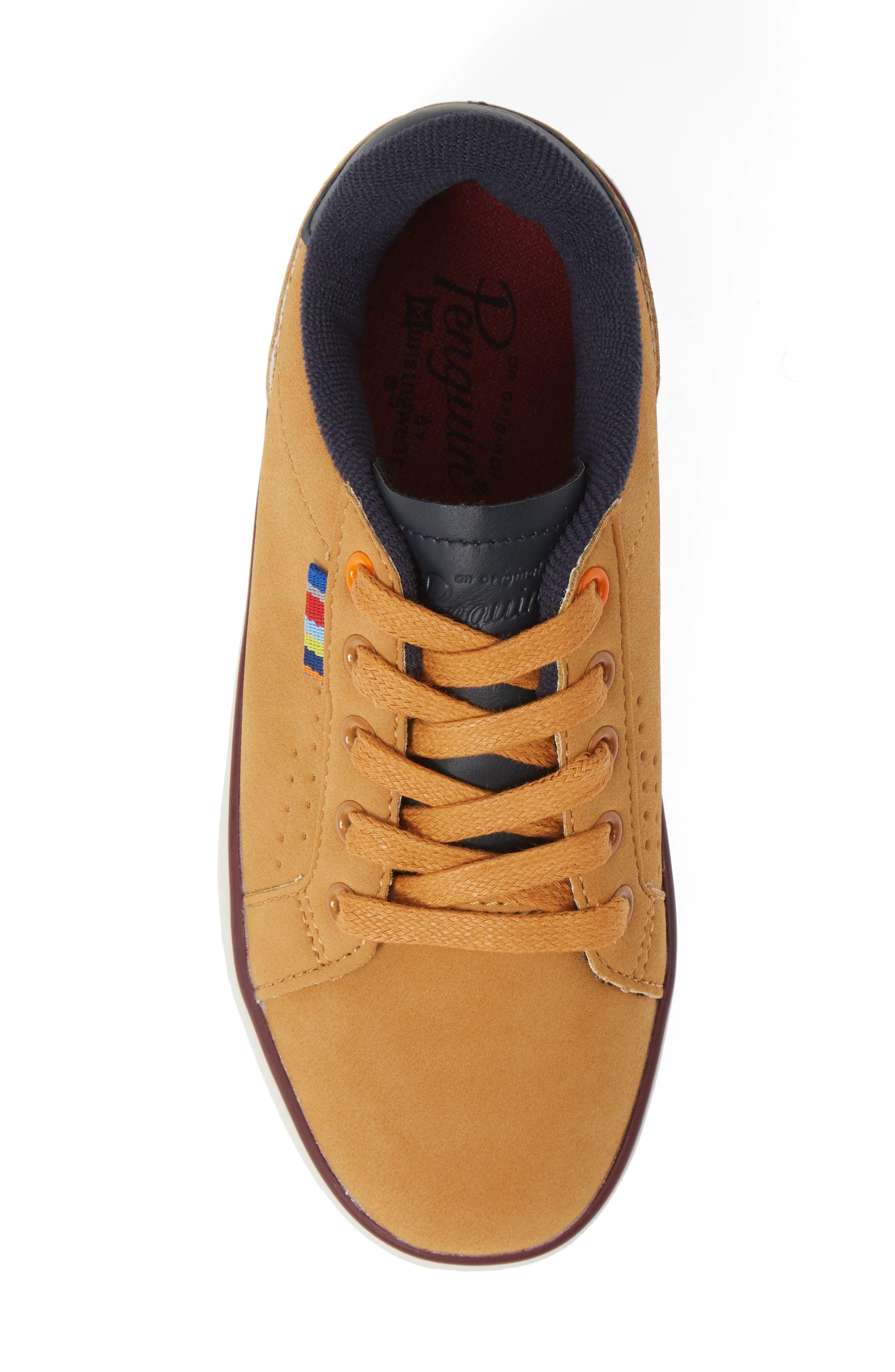 ORIGINAL PENGUIN,                             Dexter Sneaker,                             Alternate thumbnail 5, color,                             WHEAT/ NAVY