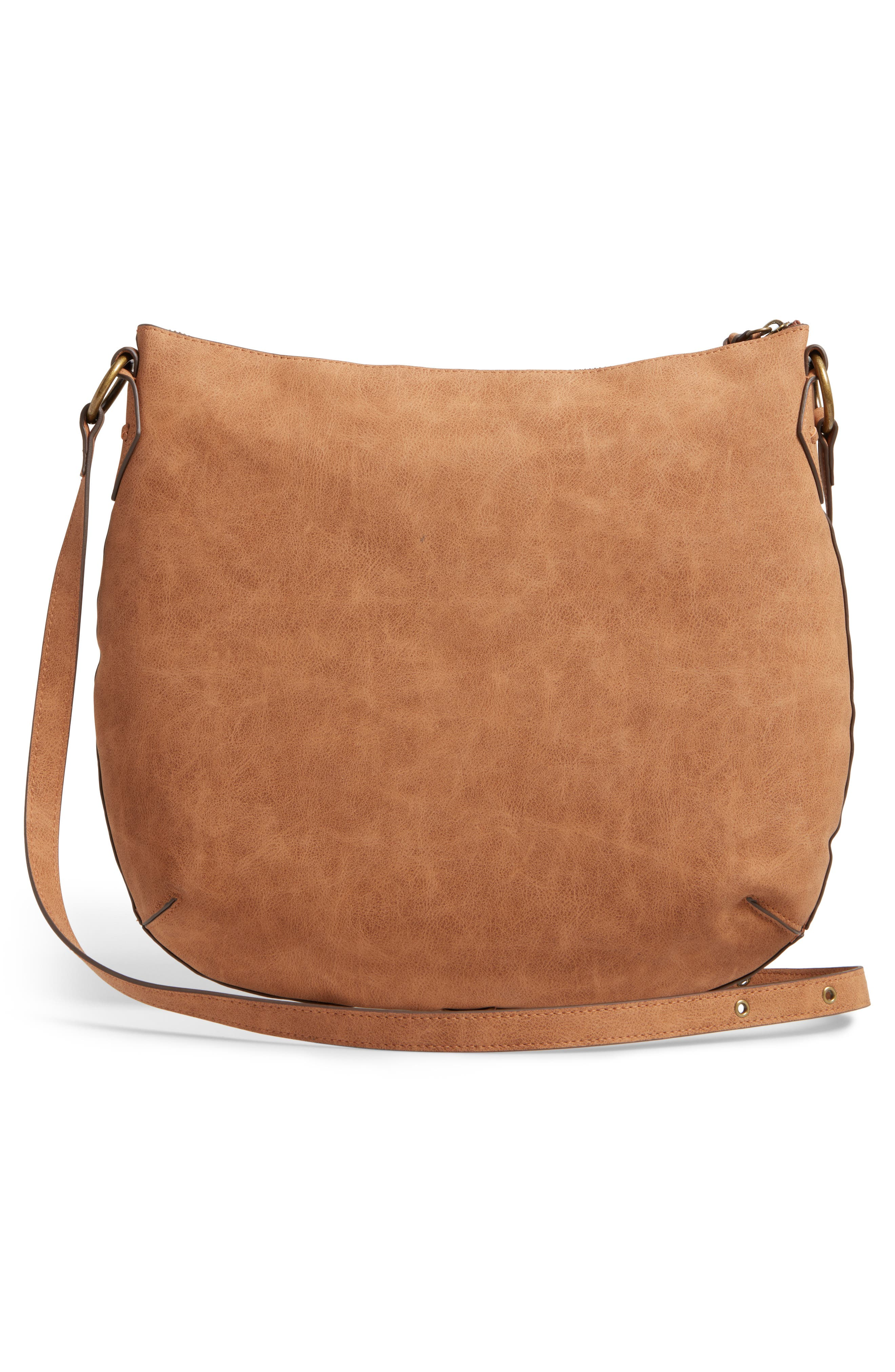 Palomina Faux Leather Crossbody Hobo,                             Alternate thumbnail 8, color,