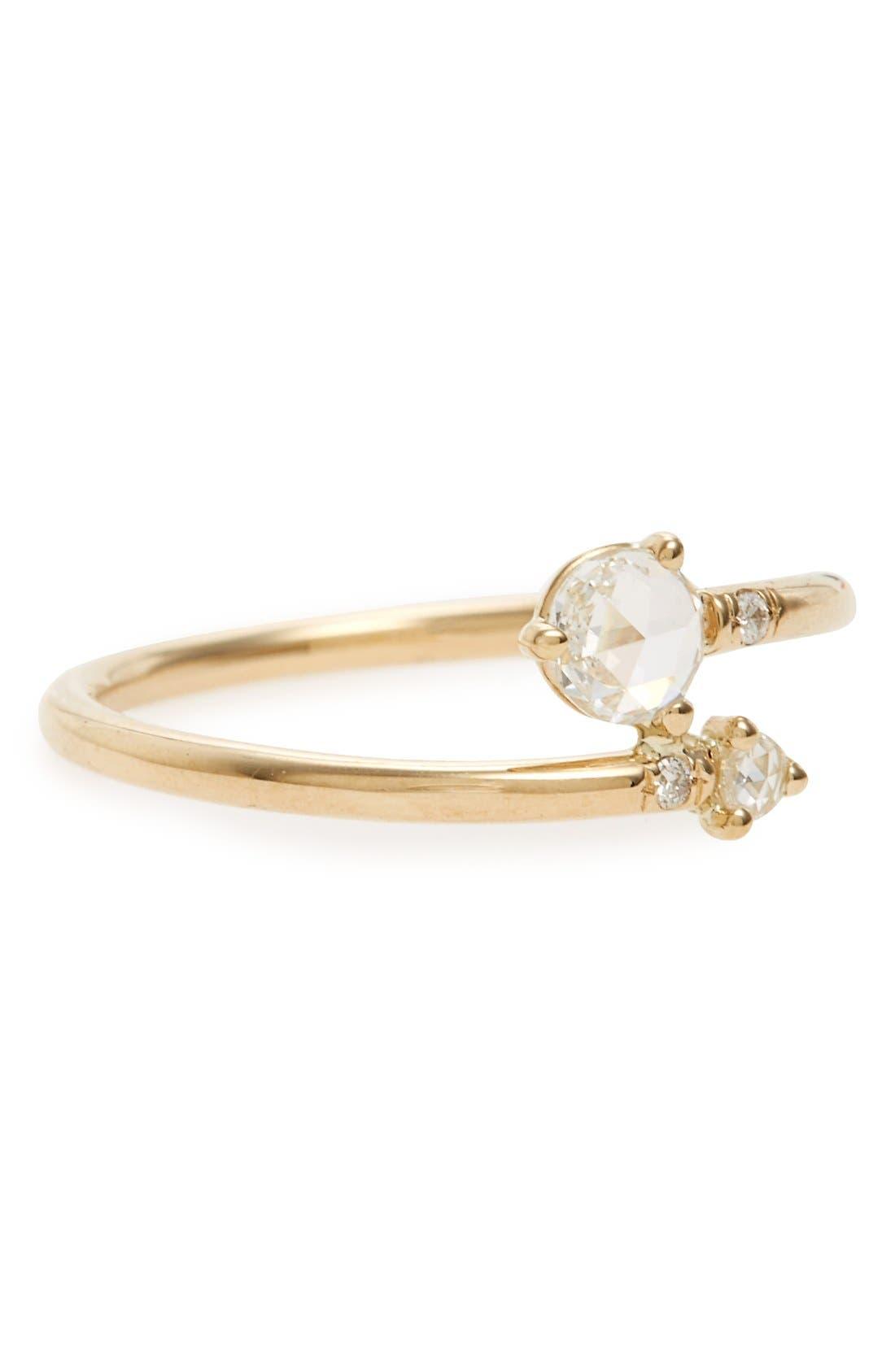 Diamond Crossover Ring,                             Main thumbnail 1, color,                             710