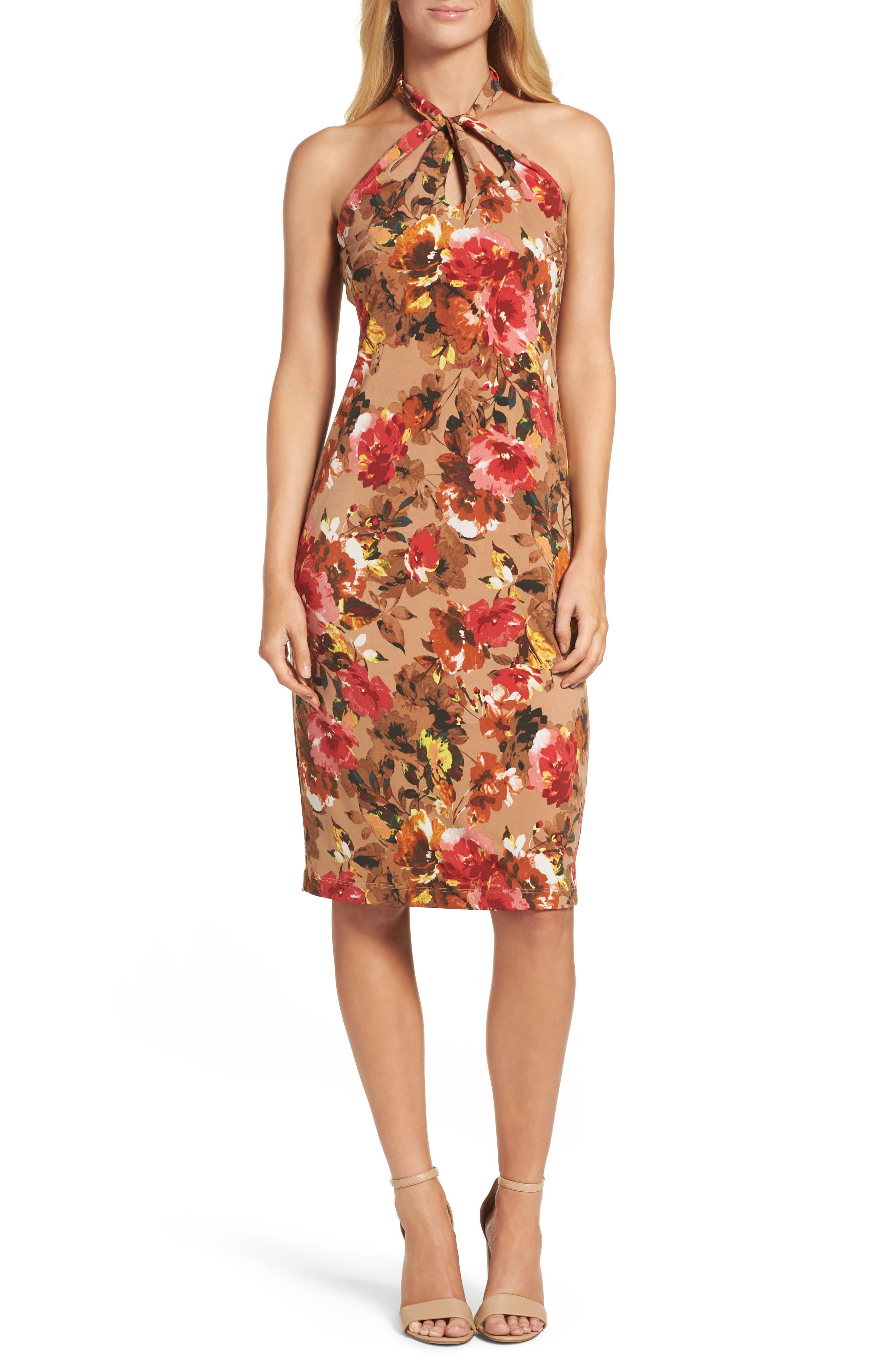 Jersey Midi Dress,                             Main thumbnail 1, color,