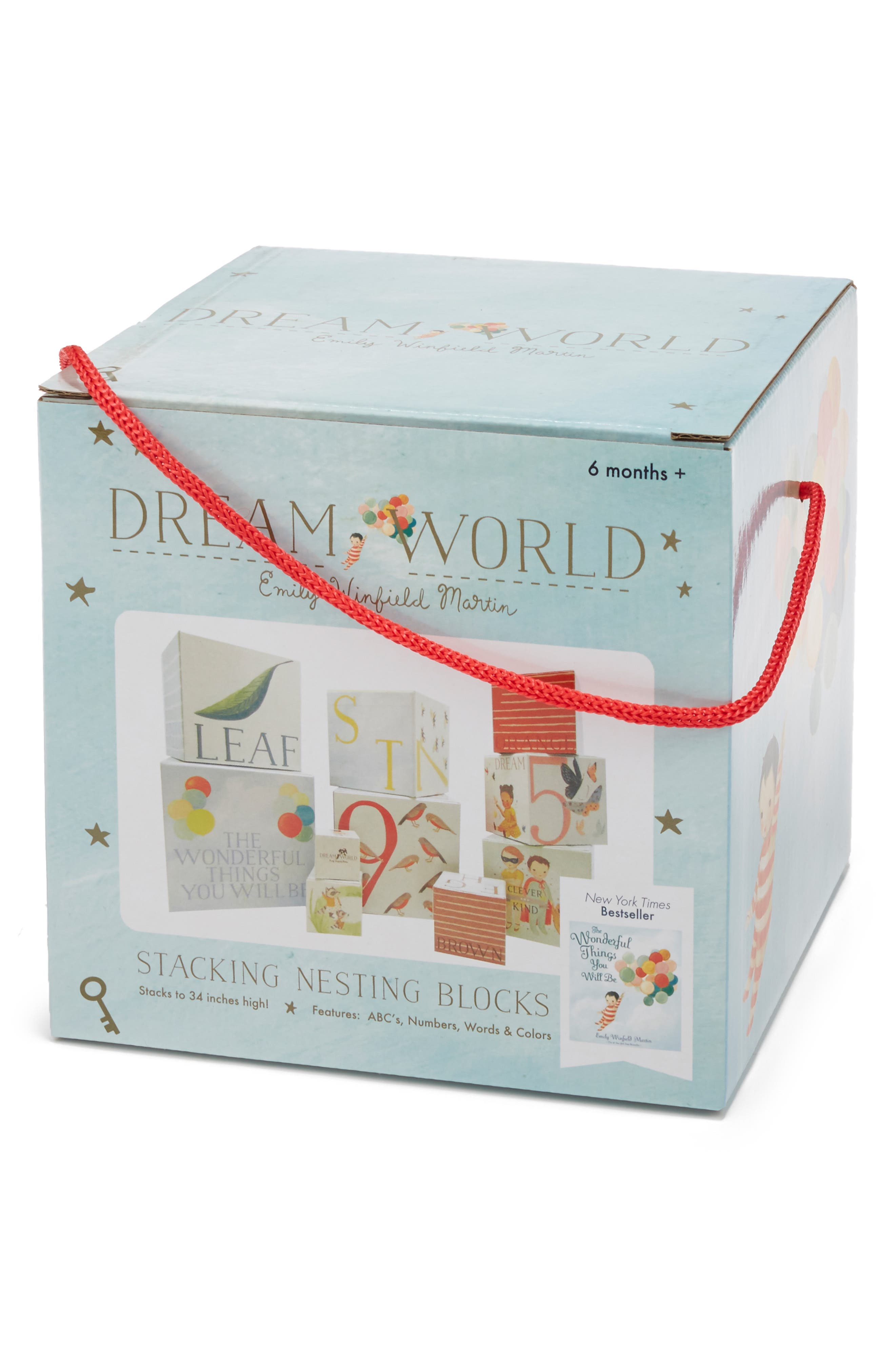 Dreamworld 'The Wonderful Things You Will Be' Stacking Nesting Blocks, Main, color, CREAM