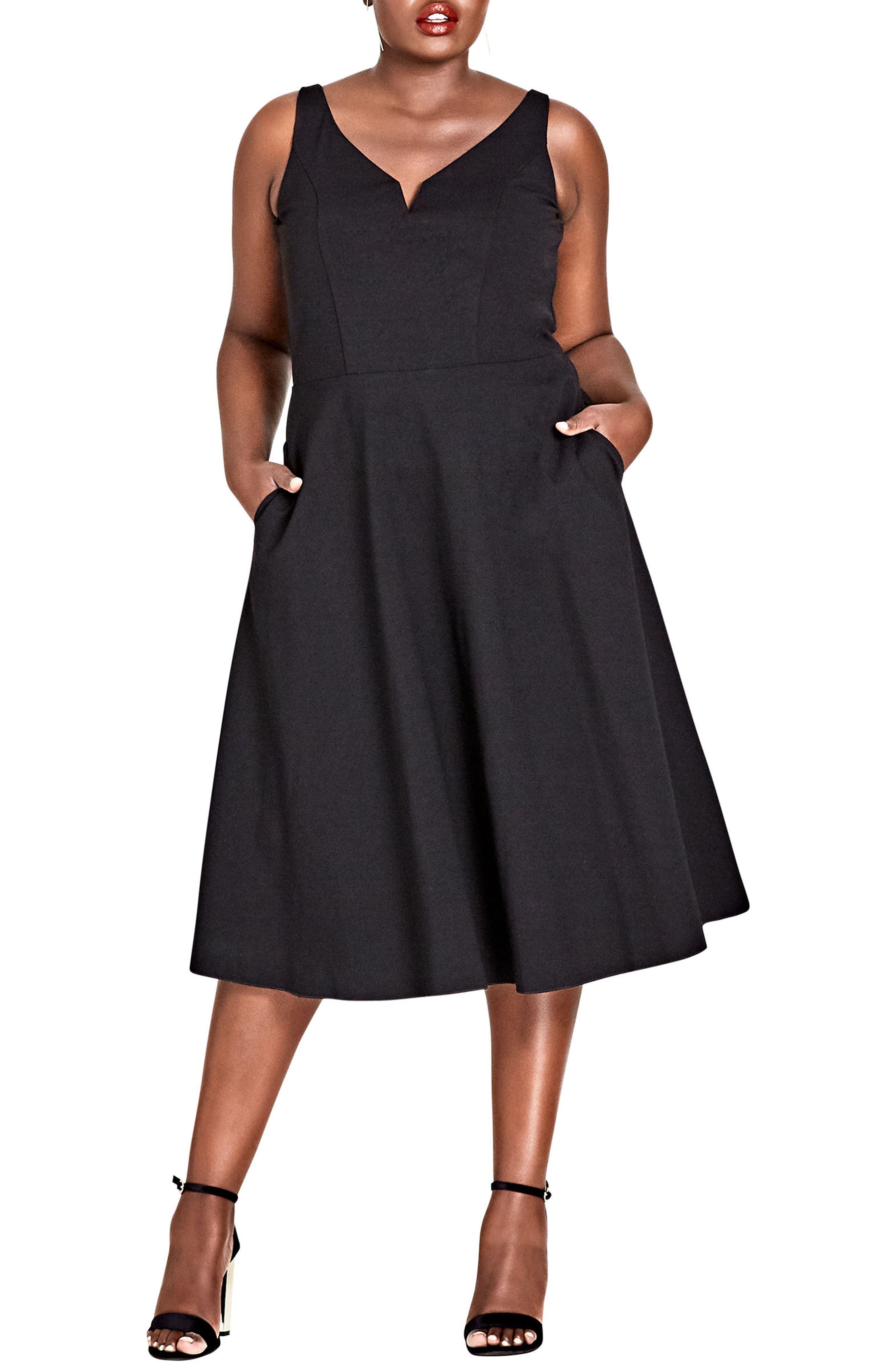 Cute Girl Fit & Flare Midi Dress,                             Alternate thumbnail 4, color,                             001