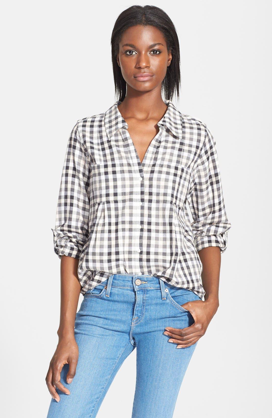 'Cartel' Check Cotton Shirt,                             Main thumbnail 1, color,