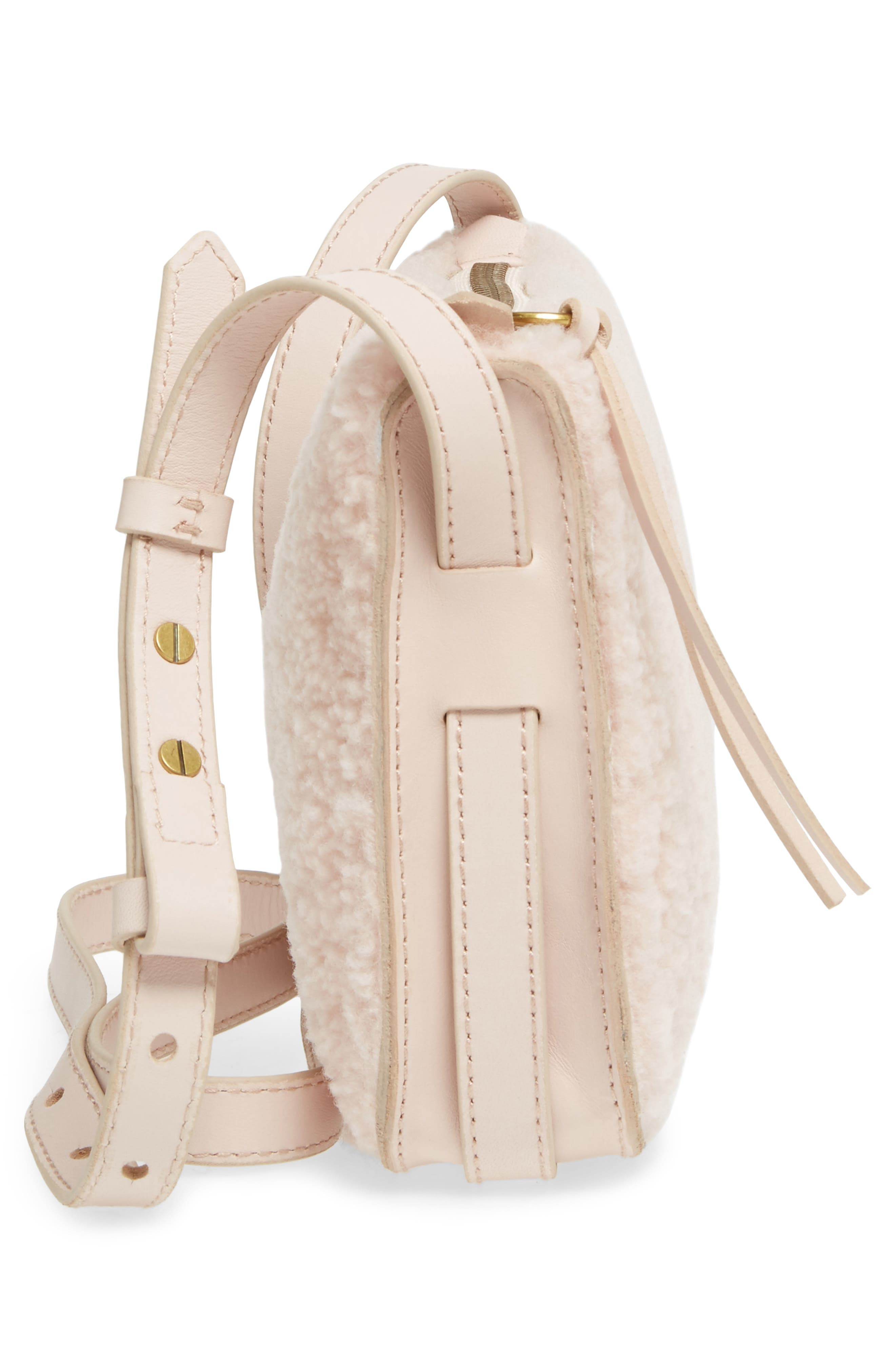 Simple Genuine Shearling Crossbody Bag,                             Alternate thumbnail 5, color,                             655