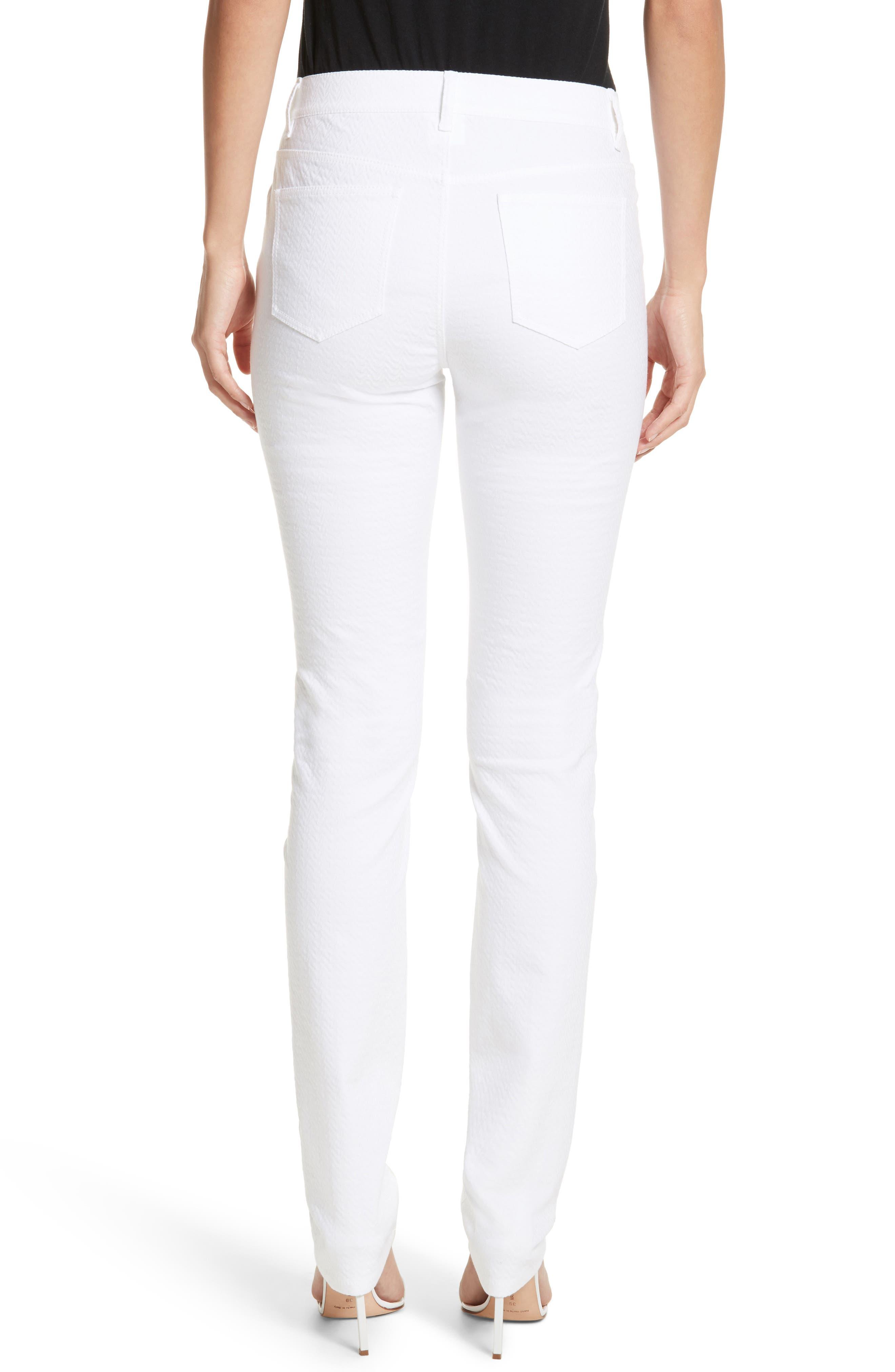 Thompson Straight Leg Jeans,                             Alternate thumbnail 2, color,                             WHITE