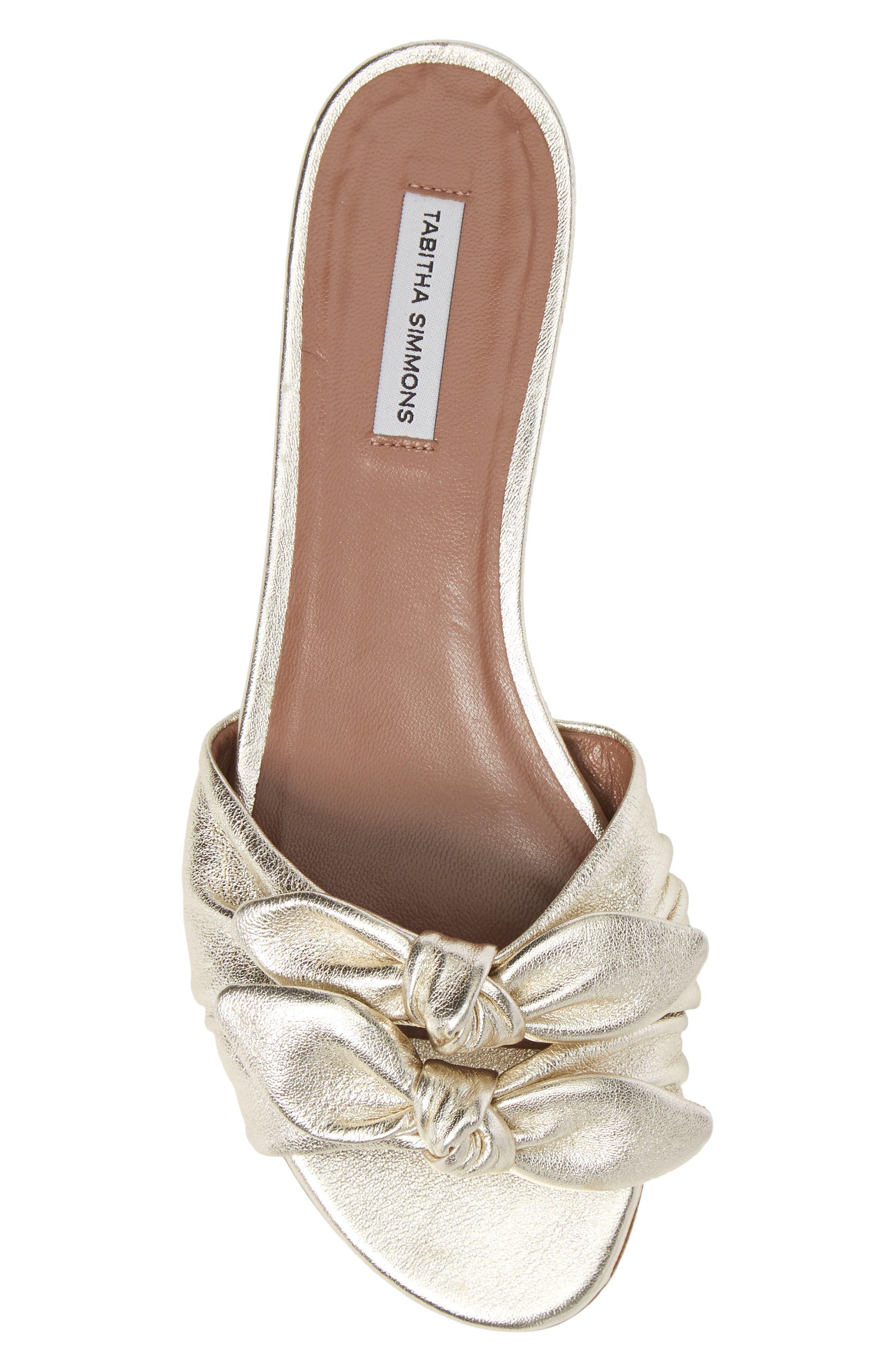 Cleo Knotted Bow Slide Sandal,                             Alternate thumbnail 5, color,                             040