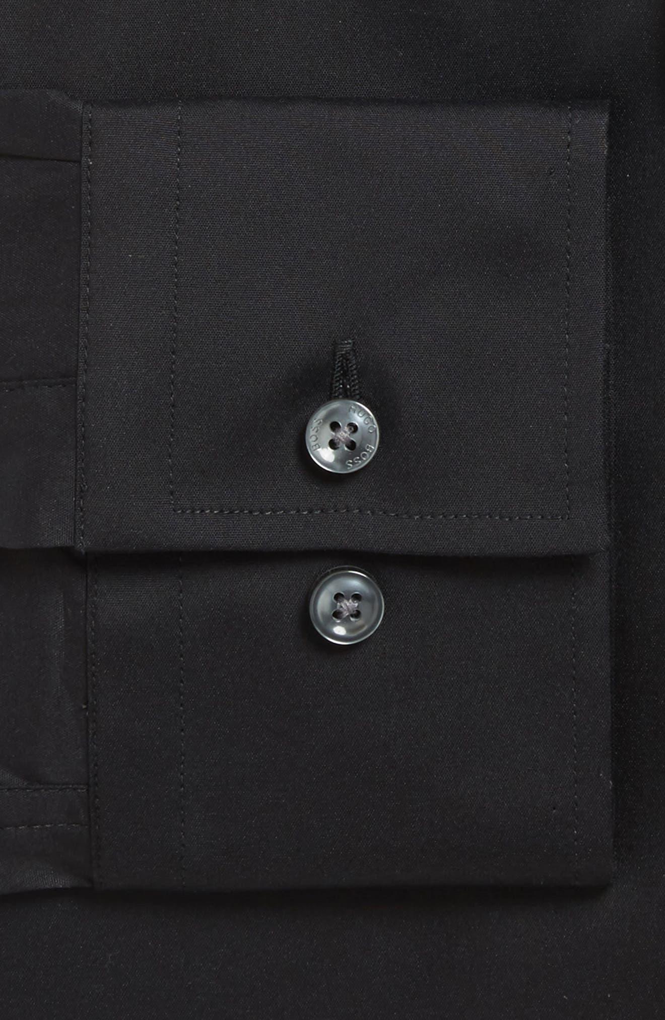 'Jason' Slim Fit Solid Stretch Dress Shirt,                         Main,                         color, BLACK