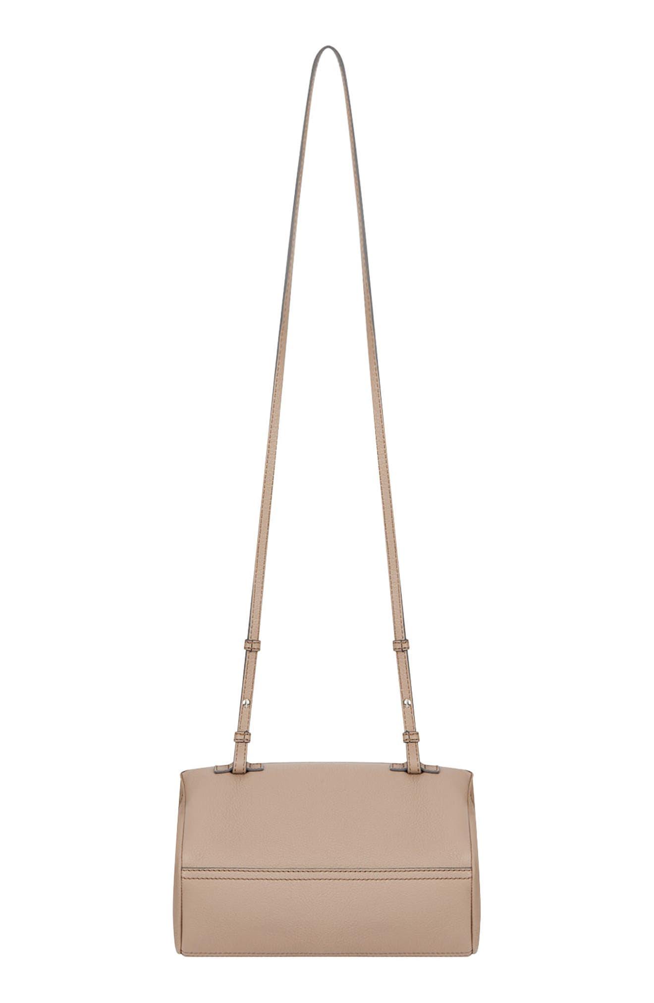 'Mini Pandora' Sugar Leather Shoulder Bag,                             Alternate thumbnail 2, color,                             POWDER