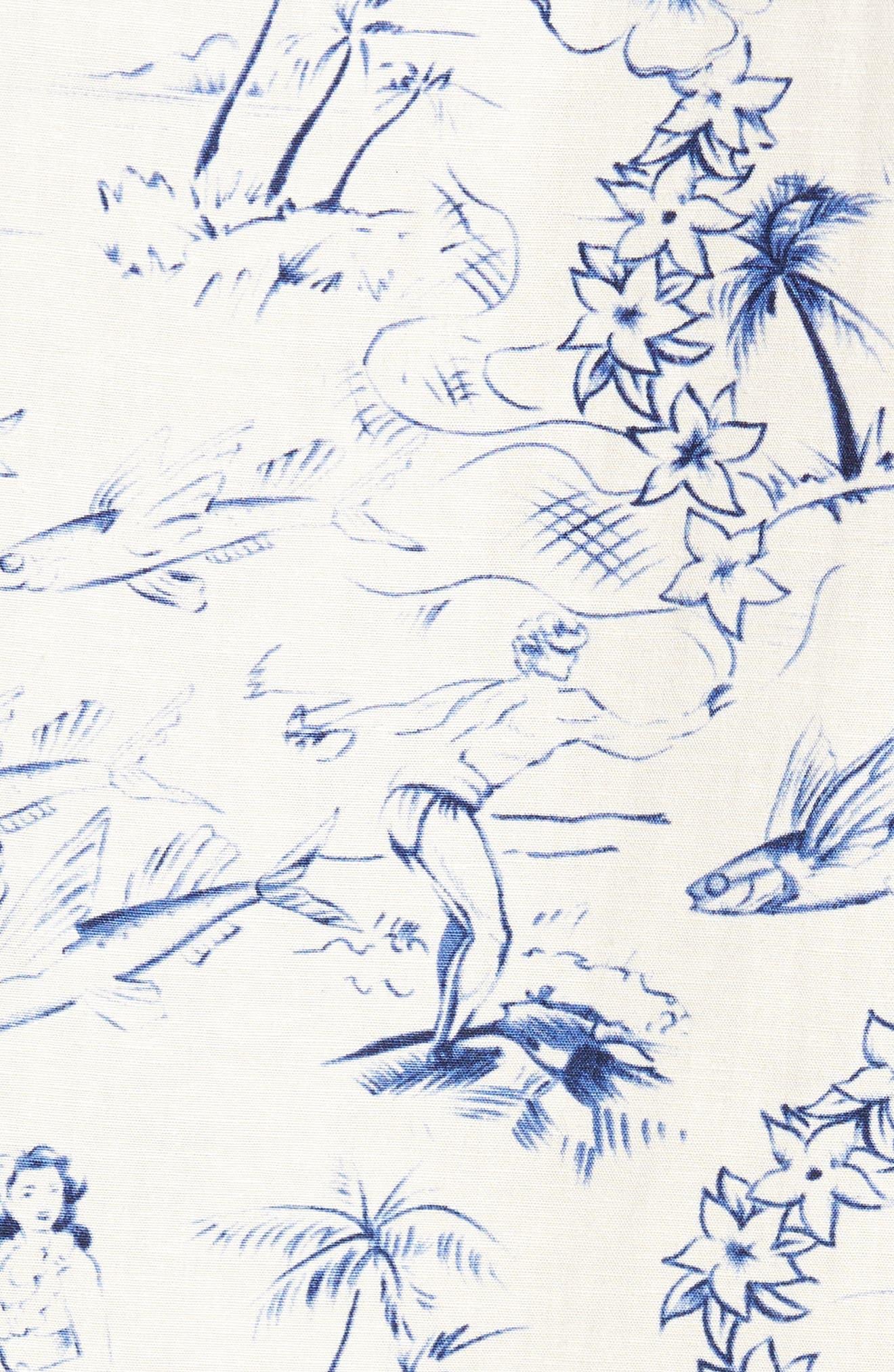 Konohiki Slim Fit Print Sport Shirt,                             Alternate thumbnail 5, color,                             102