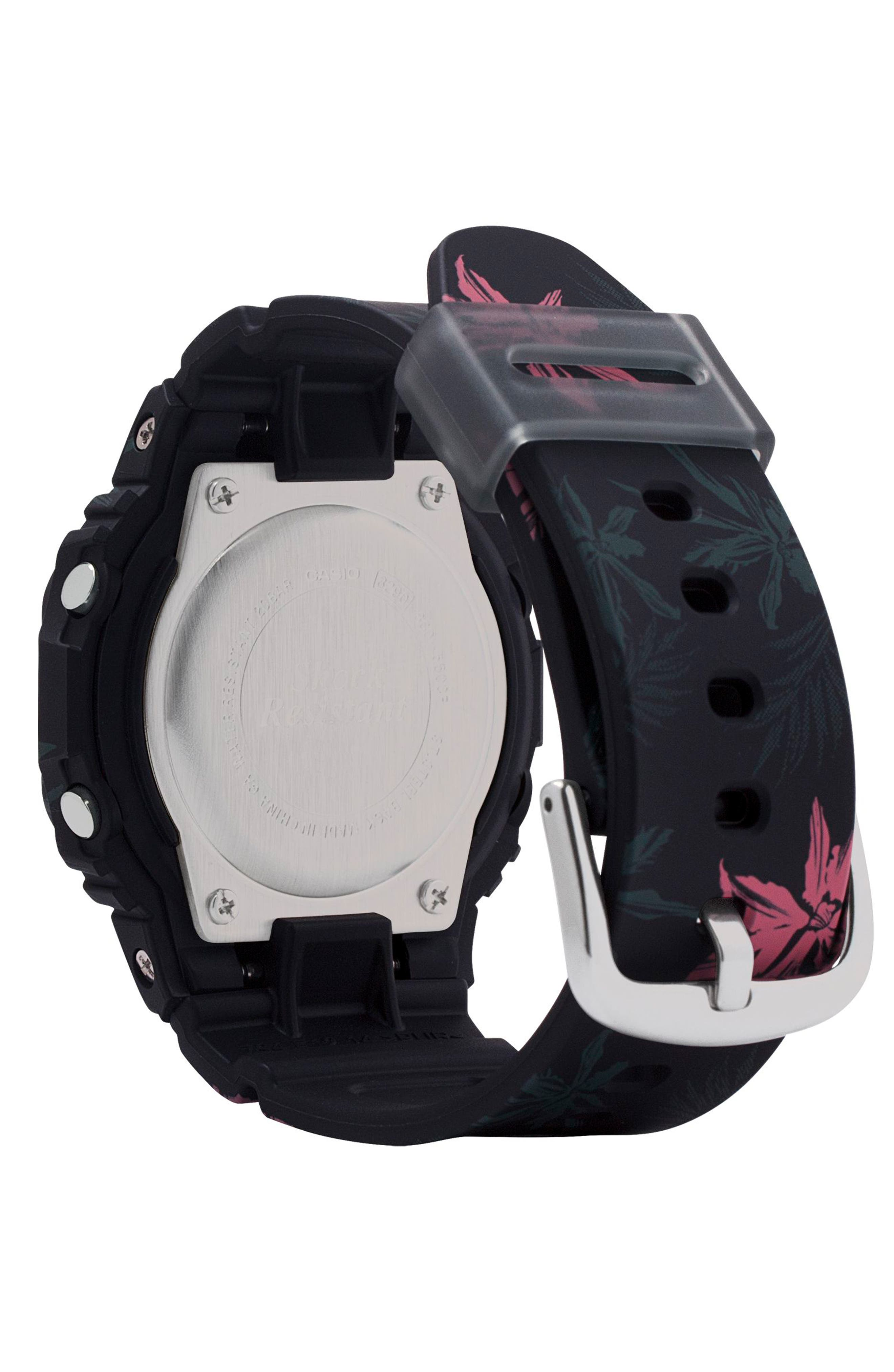 Baby-G Digital Resin Watch, 40mm,                             Alternate thumbnail 2, color,                             BLACK/ GREY