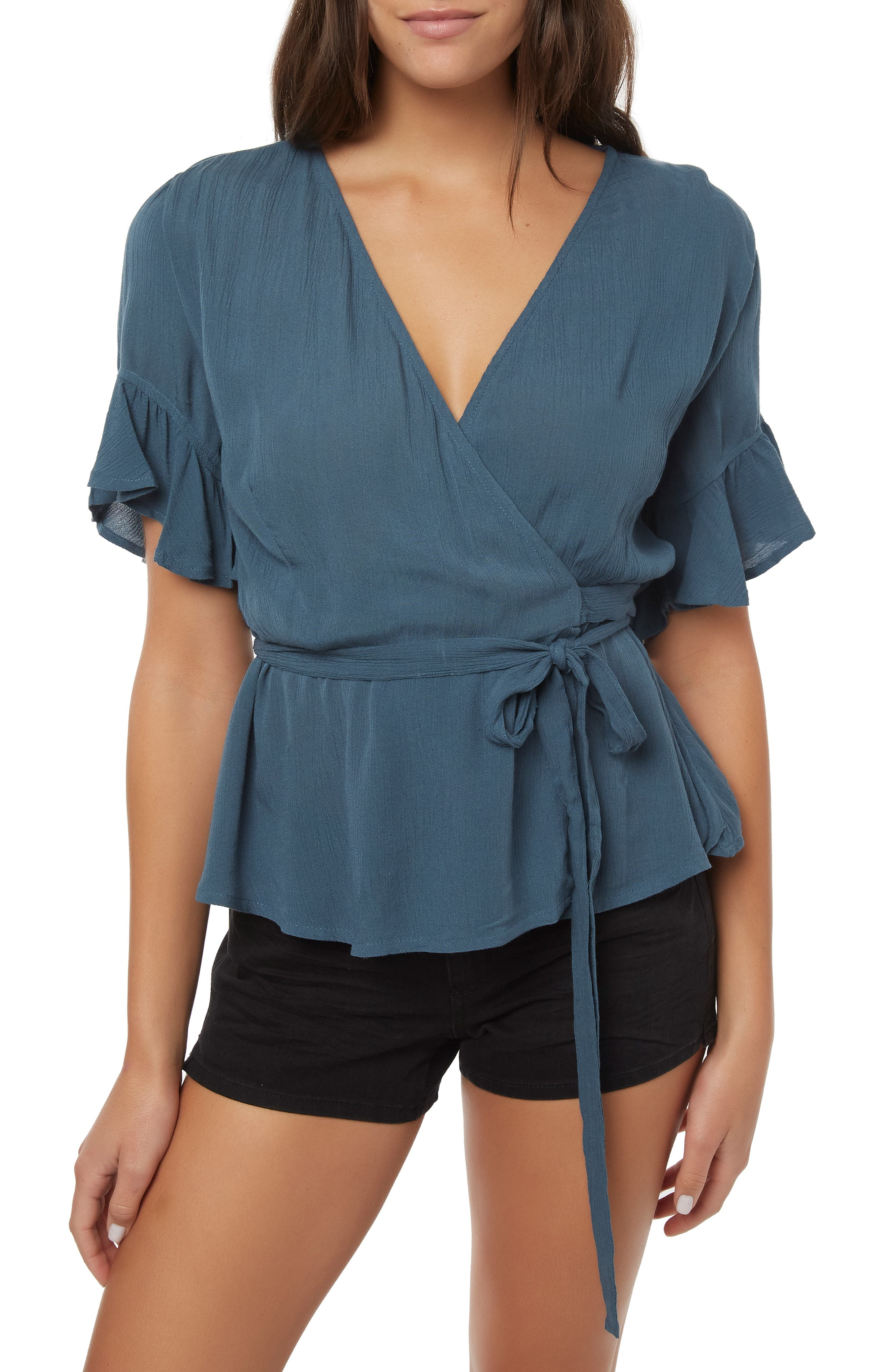 O'NEILL Sarita Wrap Top, Main, color, STARGAZER
