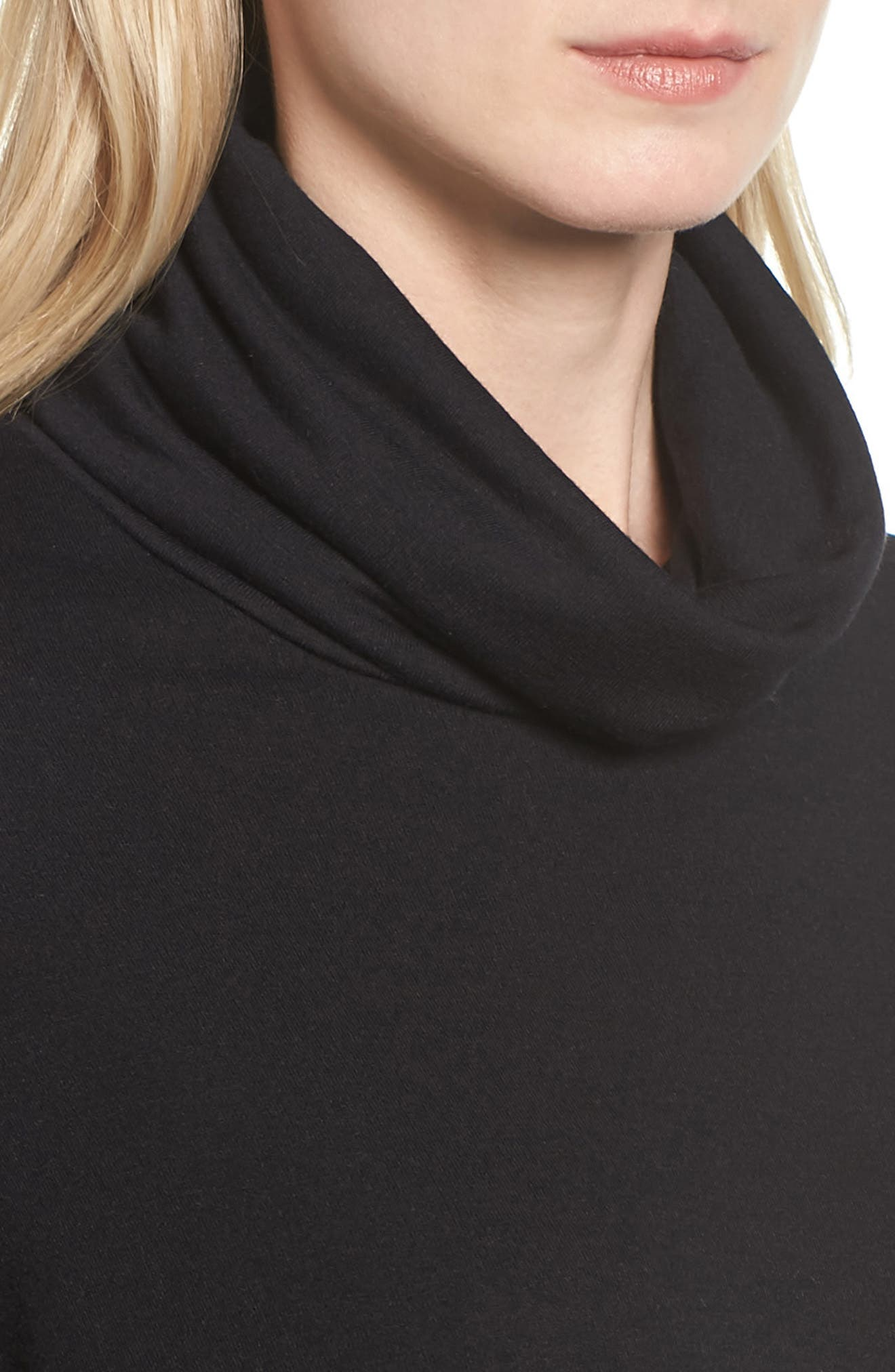 High/Low Tunic,                             Alternate thumbnail 4, color,                             BLACK
