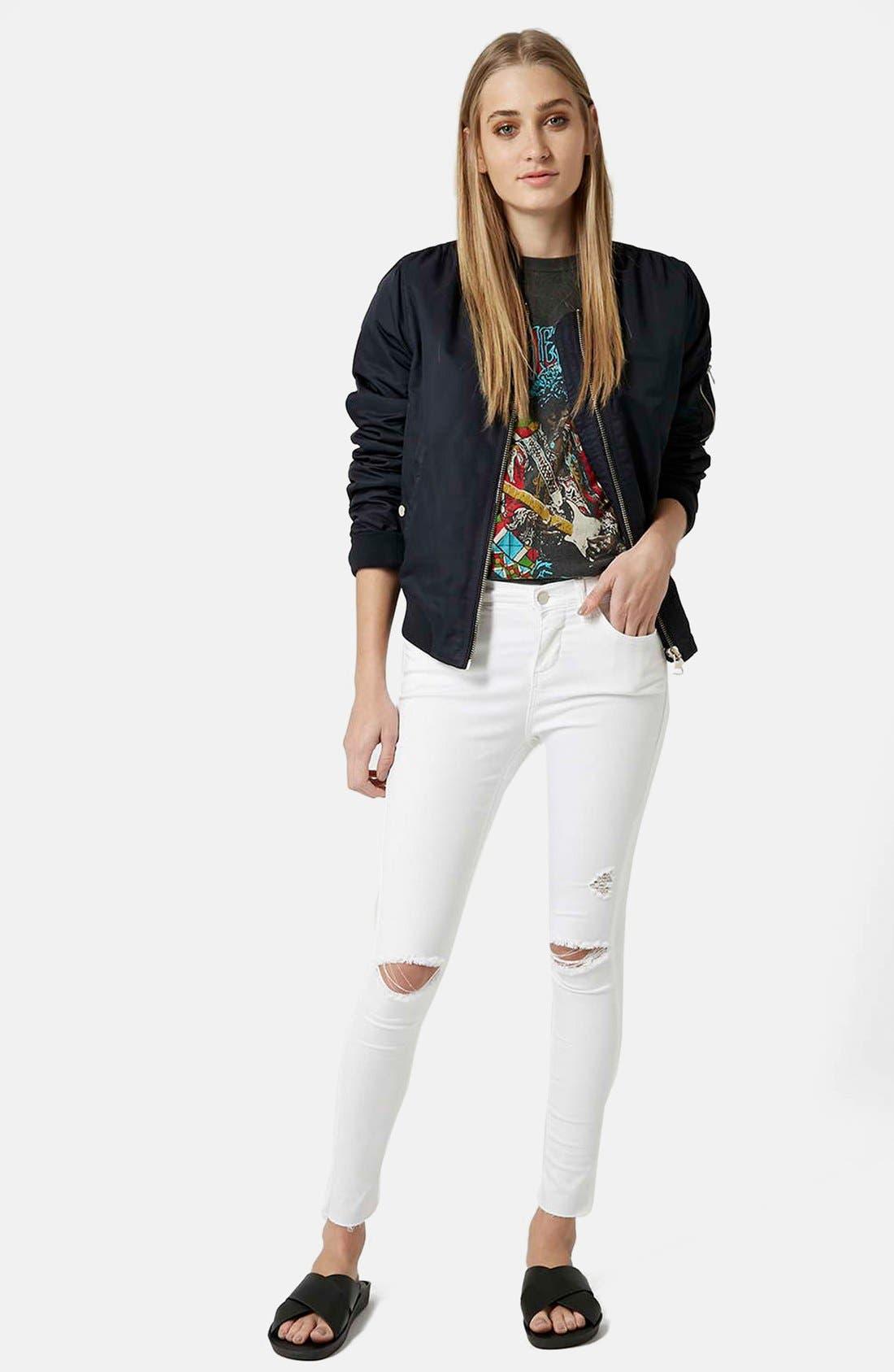 'Leigh' Moto Jeans,                             Alternate thumbnail 2, color,