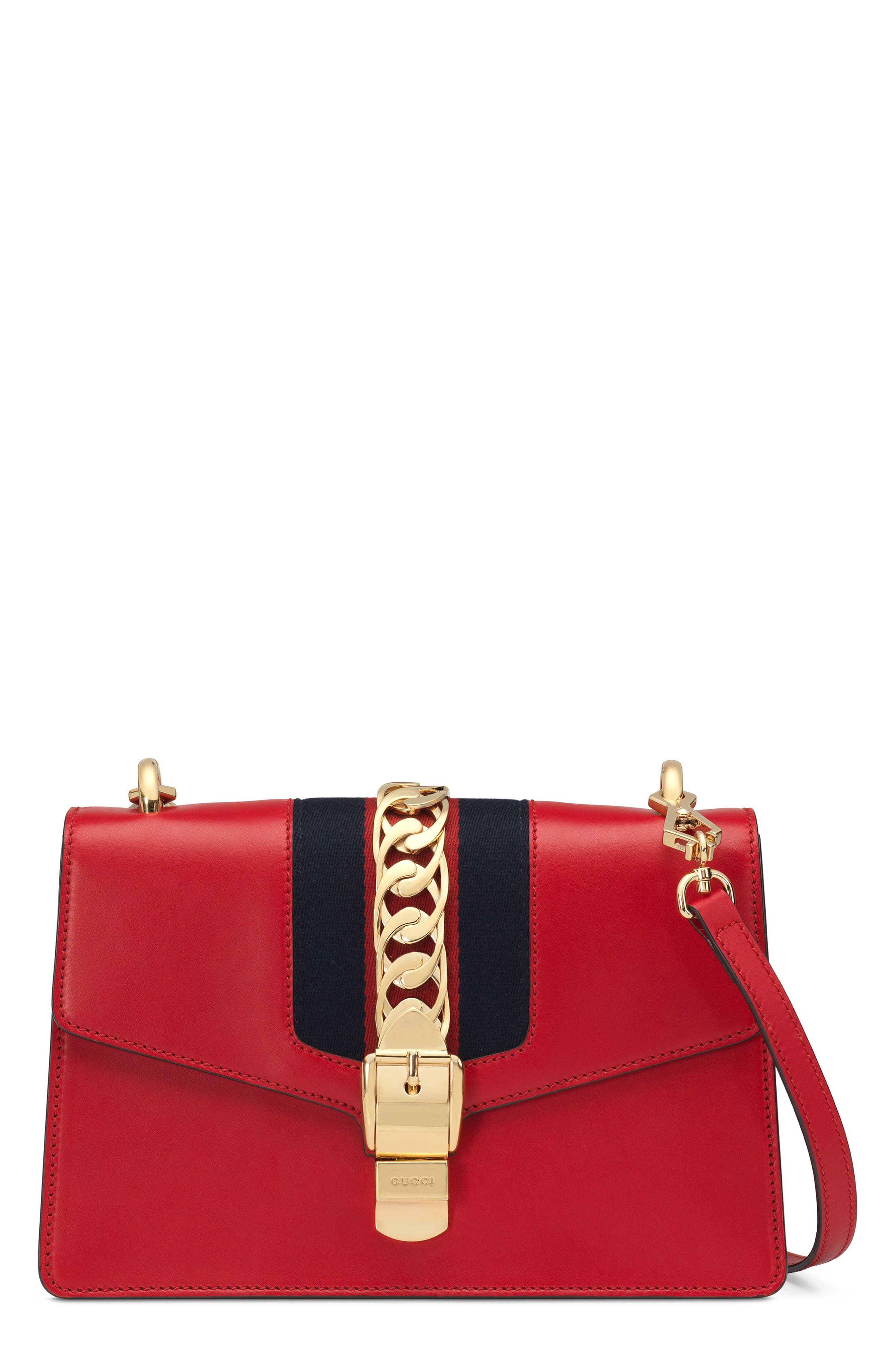 Sylvie Leather Crossbody Strap,                             Alternate thumbnail 2, color,                             HIBISCUS RED