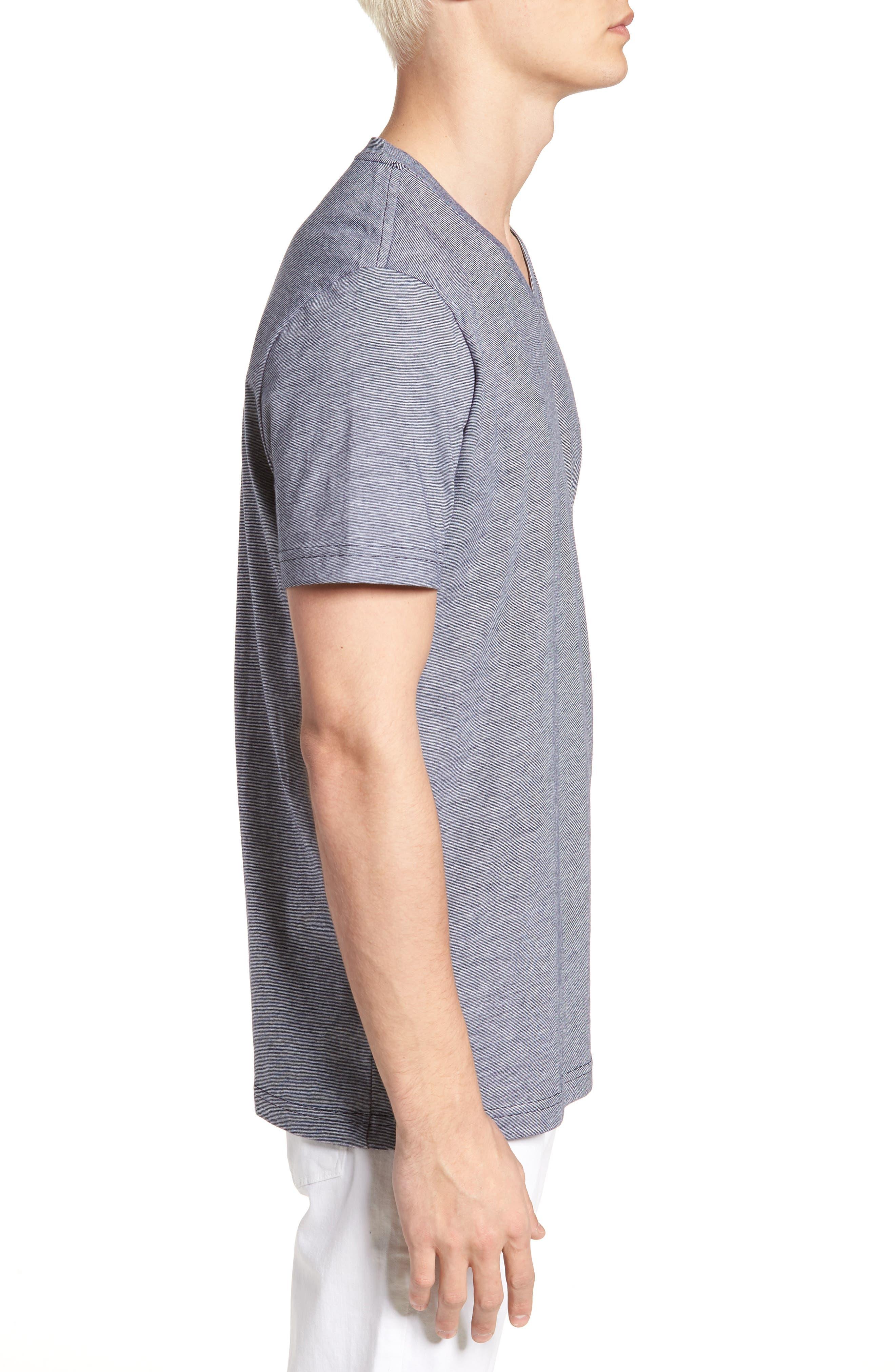 V-Neck Cotton T-Shirt,                             Alternate thumbnail 9, color,