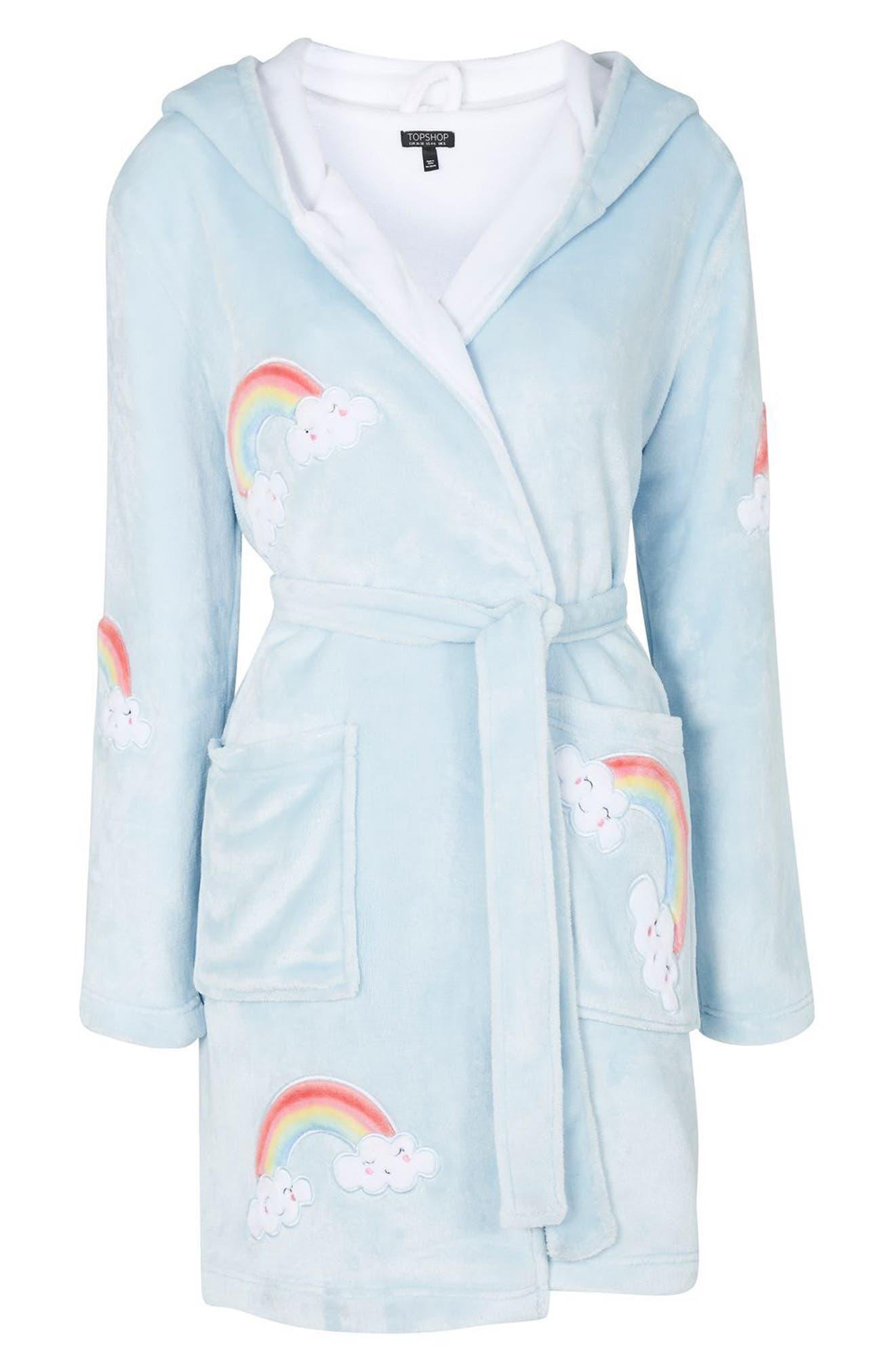 Rainbow Dressing Robe,                             Alternate thumbnail 3, color,                             450
