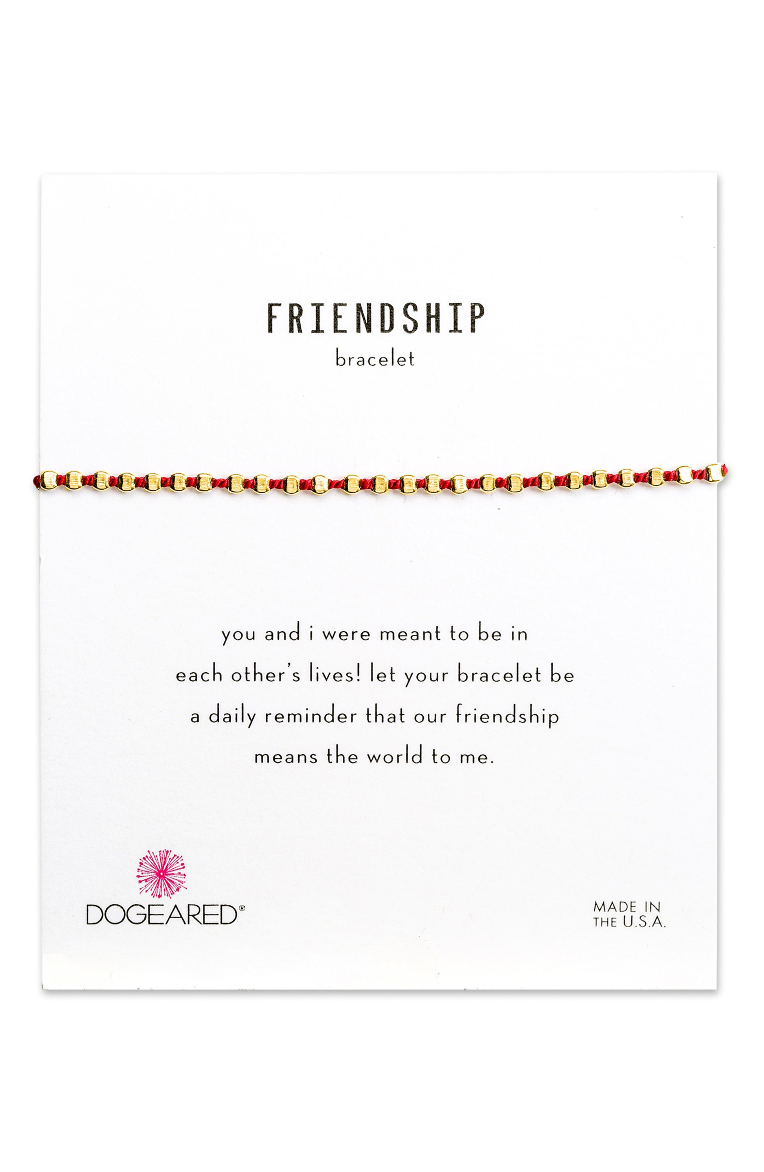Flat Bead Friendship Bracelet,                             Main thumbnail 1, color,                             GOLD