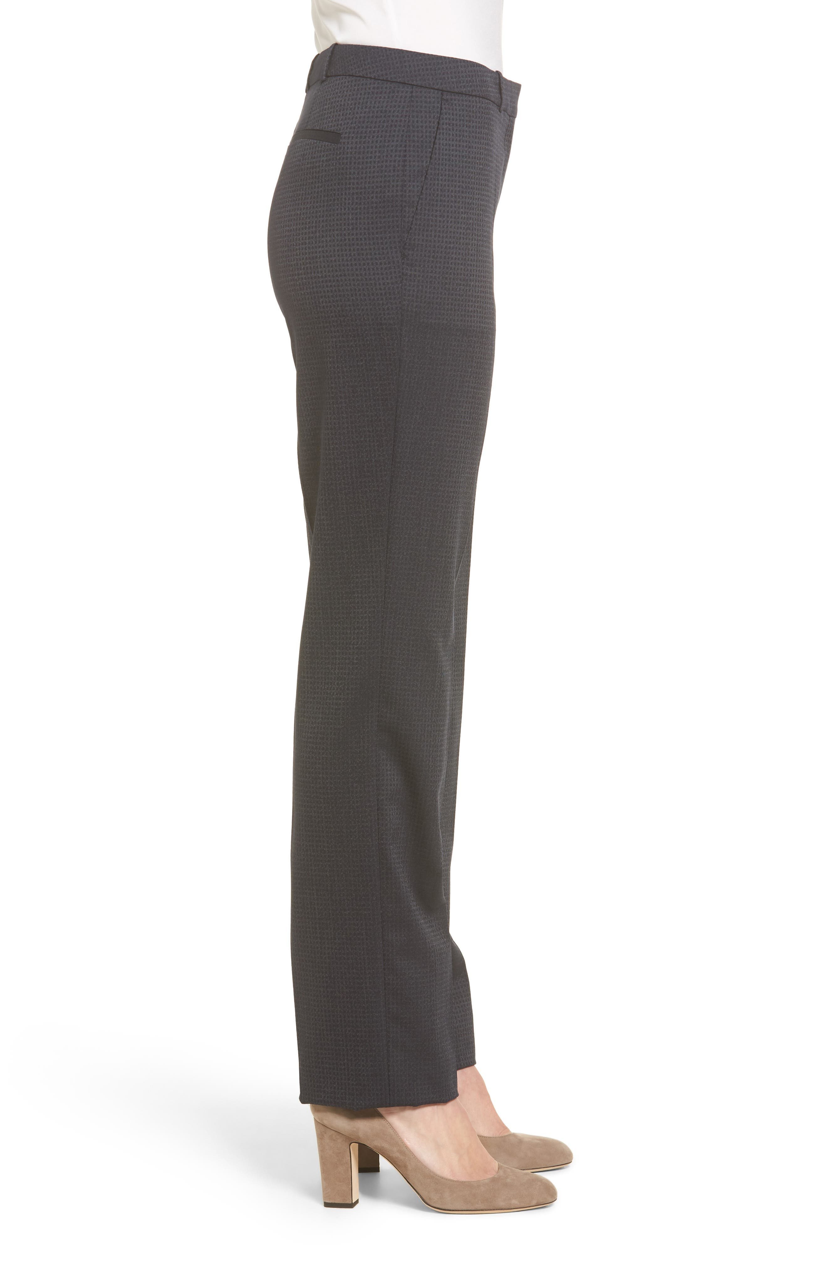 Tamea Stretch Wool Straight Leg Trousers,                             Alternate thumbnail 3, color,