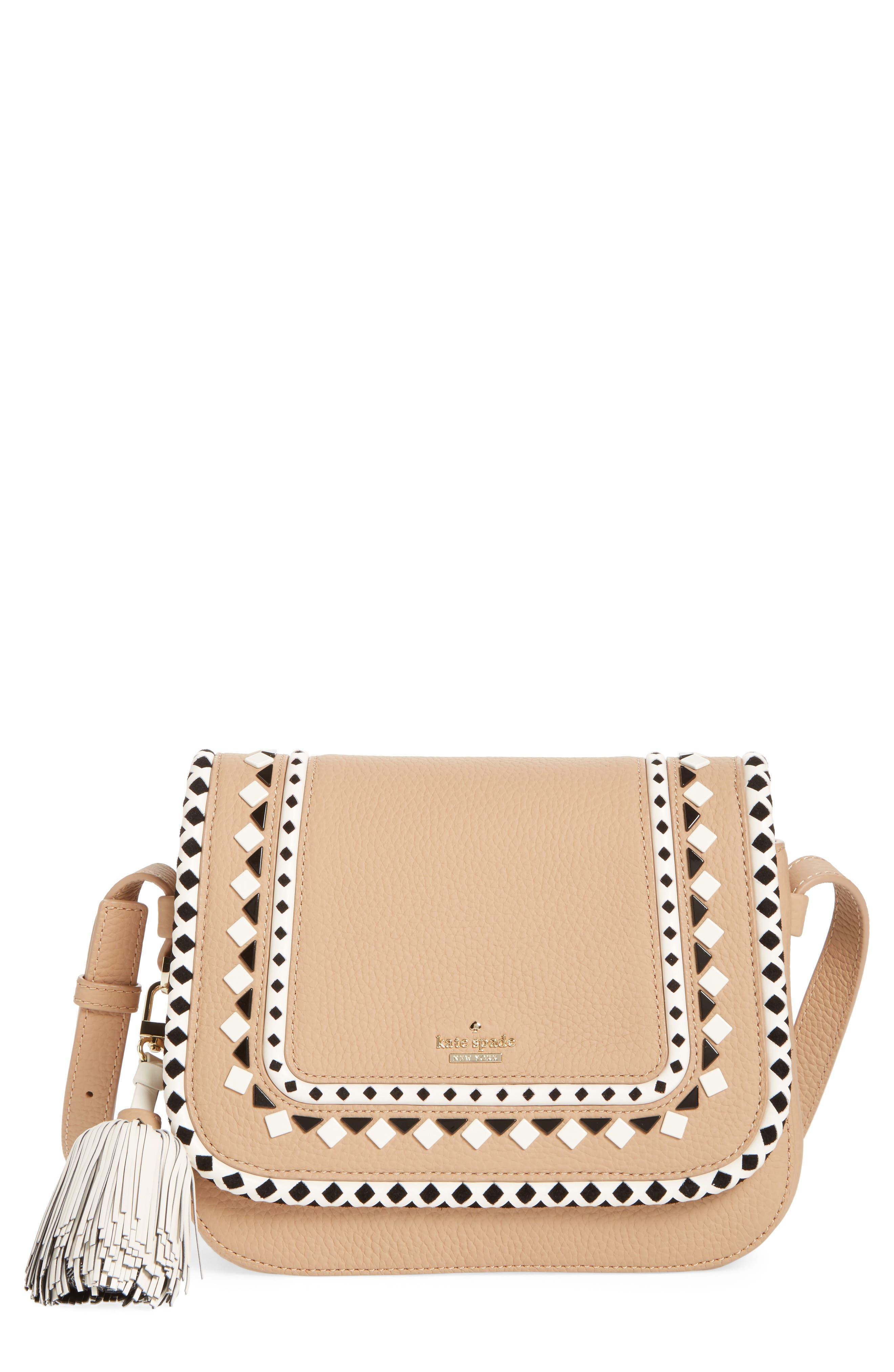 crown street - jasper leather saddle bag,                             Main thumbnail 1, color,                             248