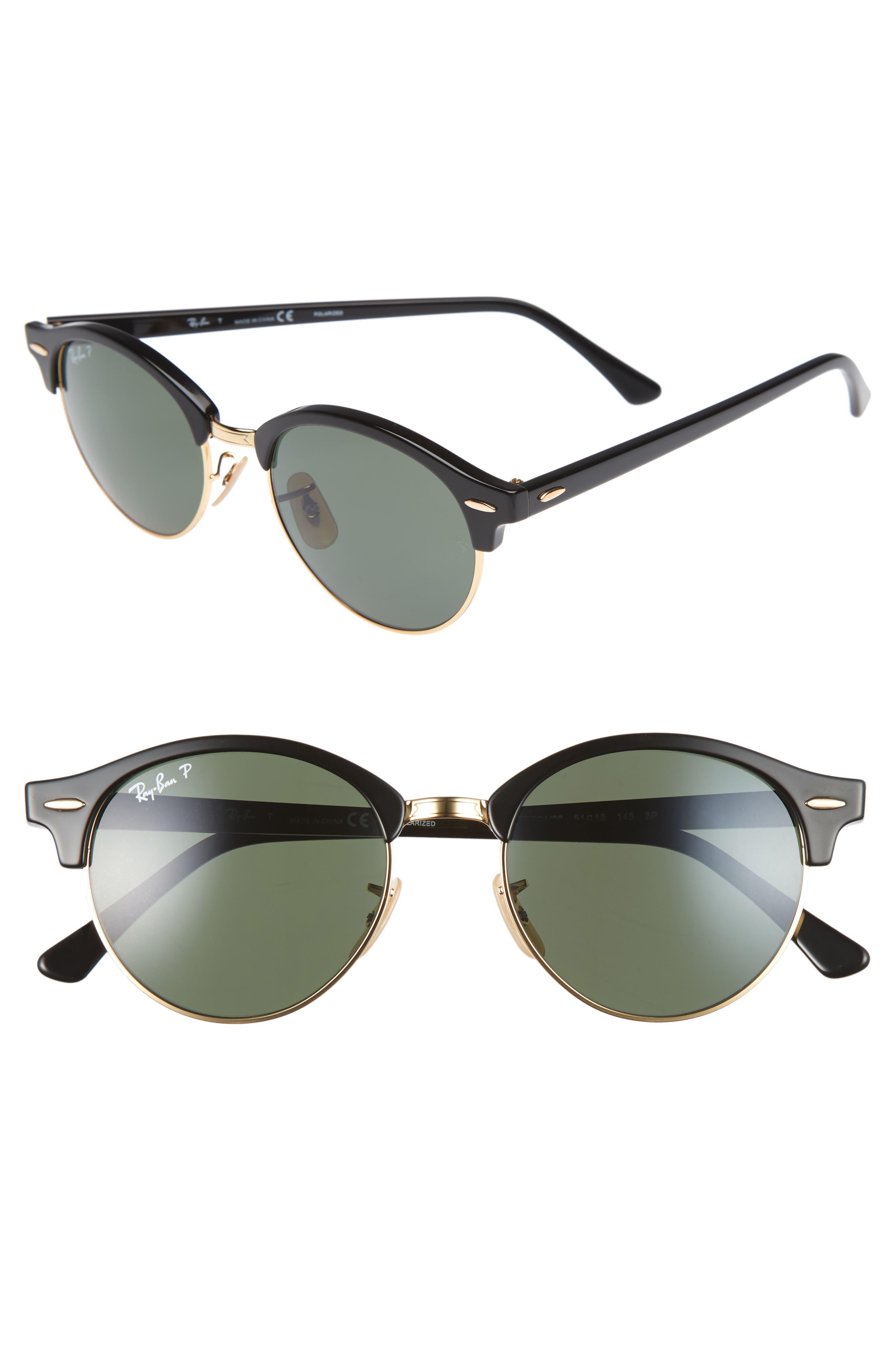 Clubround 51mm Polarized Sunglasses,                         Main,                         color, 017