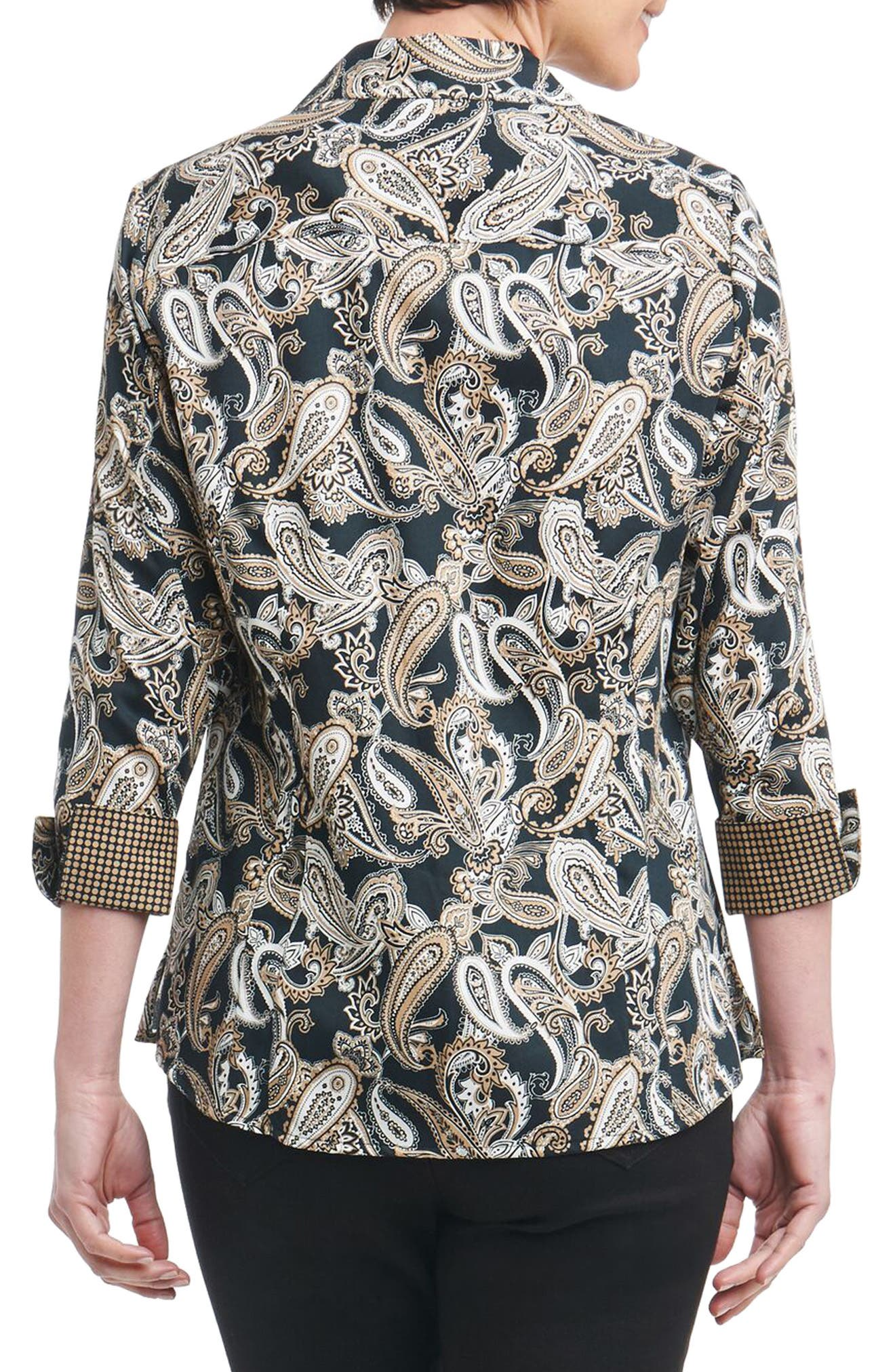Taylor Heritage Paisley Wrinkle Free Shirt,                             Alternate thumbnail 2, color,                             002