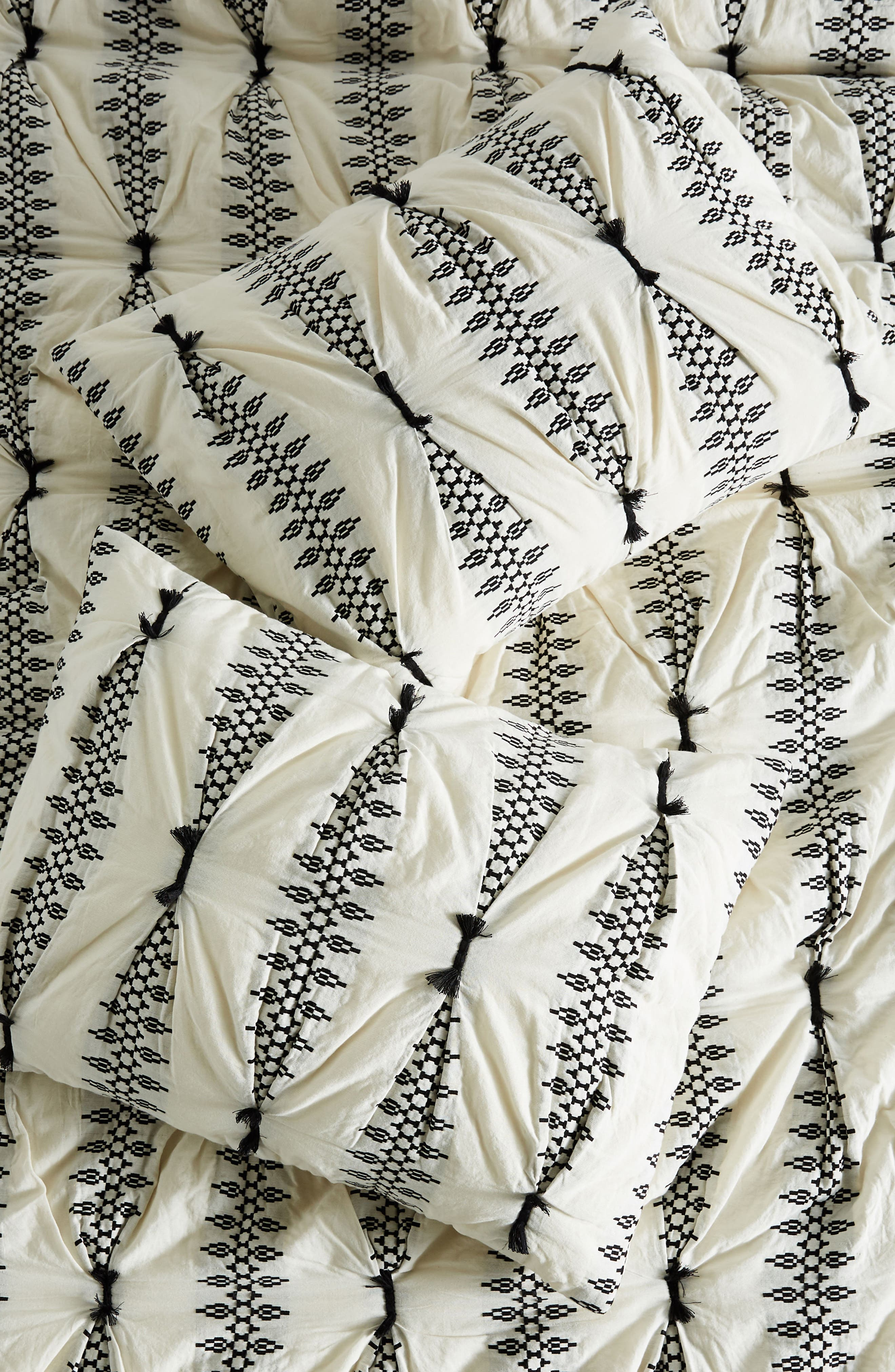 Embroidered Lilou Pillow Shams,                         Main,                         color, CARBON