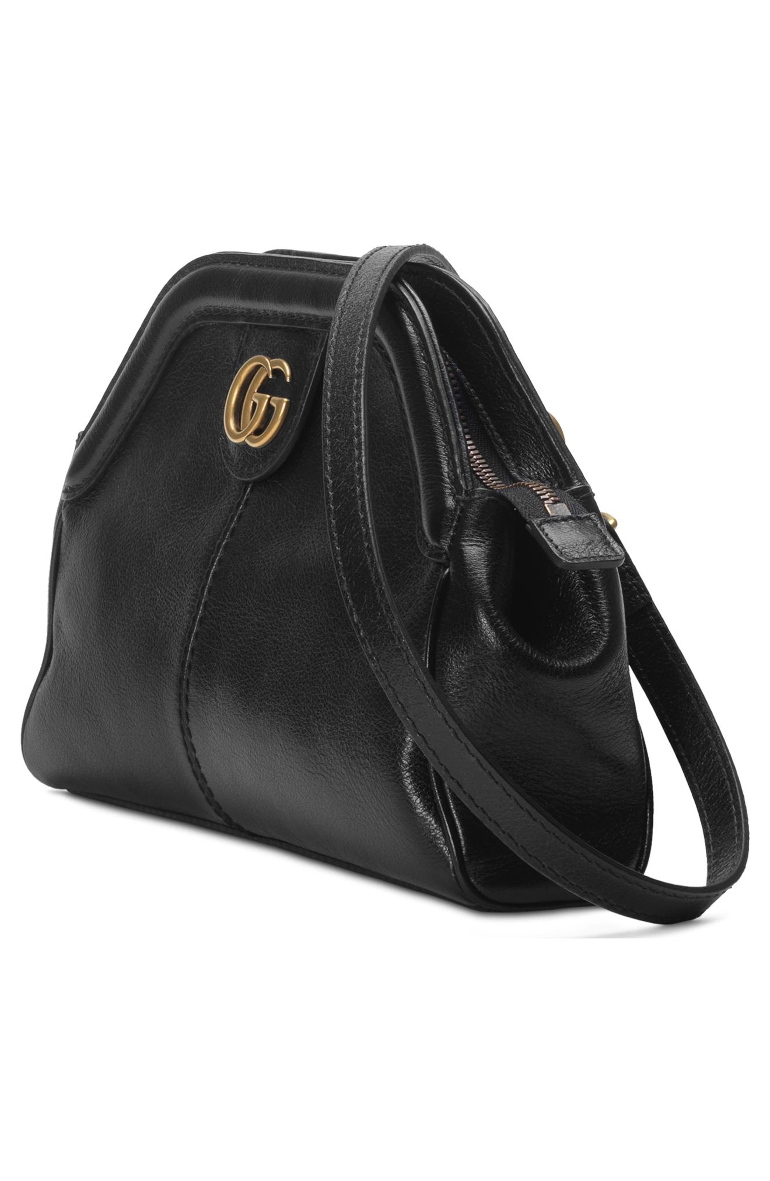 Small RE(BELLE) Leather Crossbody Bag,                             Alternate thumbnail 4, color,                             NERO