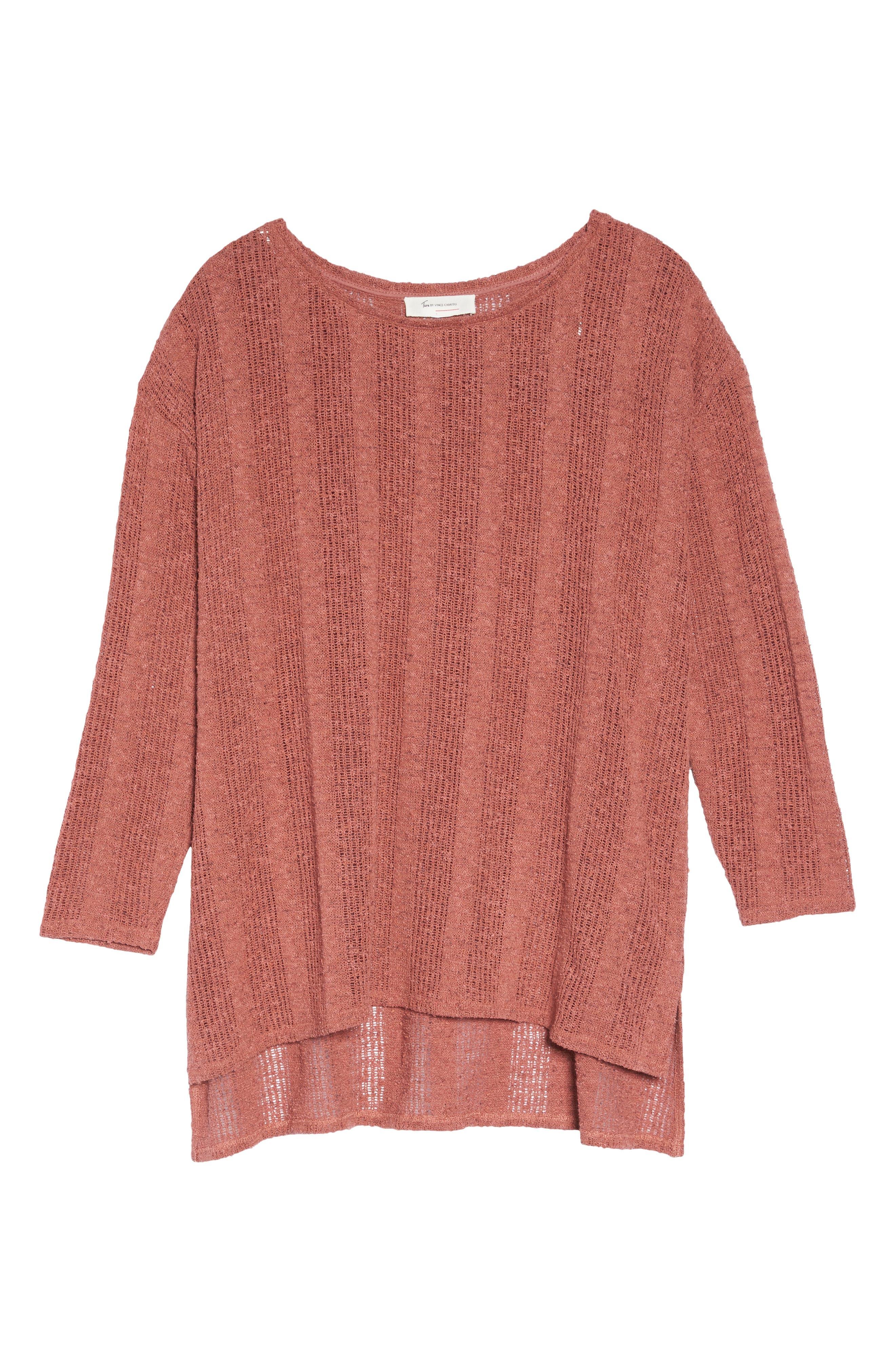 Drop Needle Sweater,                             Alternate thumbnail 6, color,