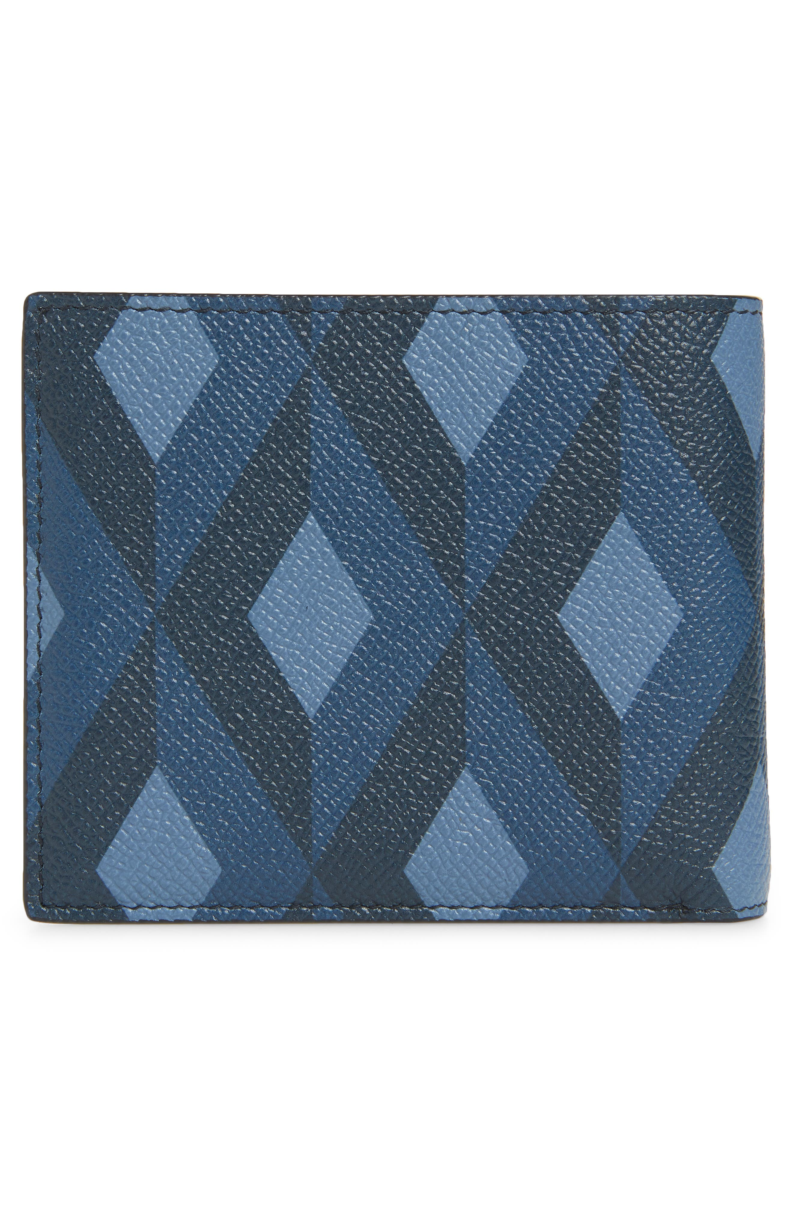 Cadogan Leather Wallet,                             Alternate thumbnail 3, color,                             BLUE
