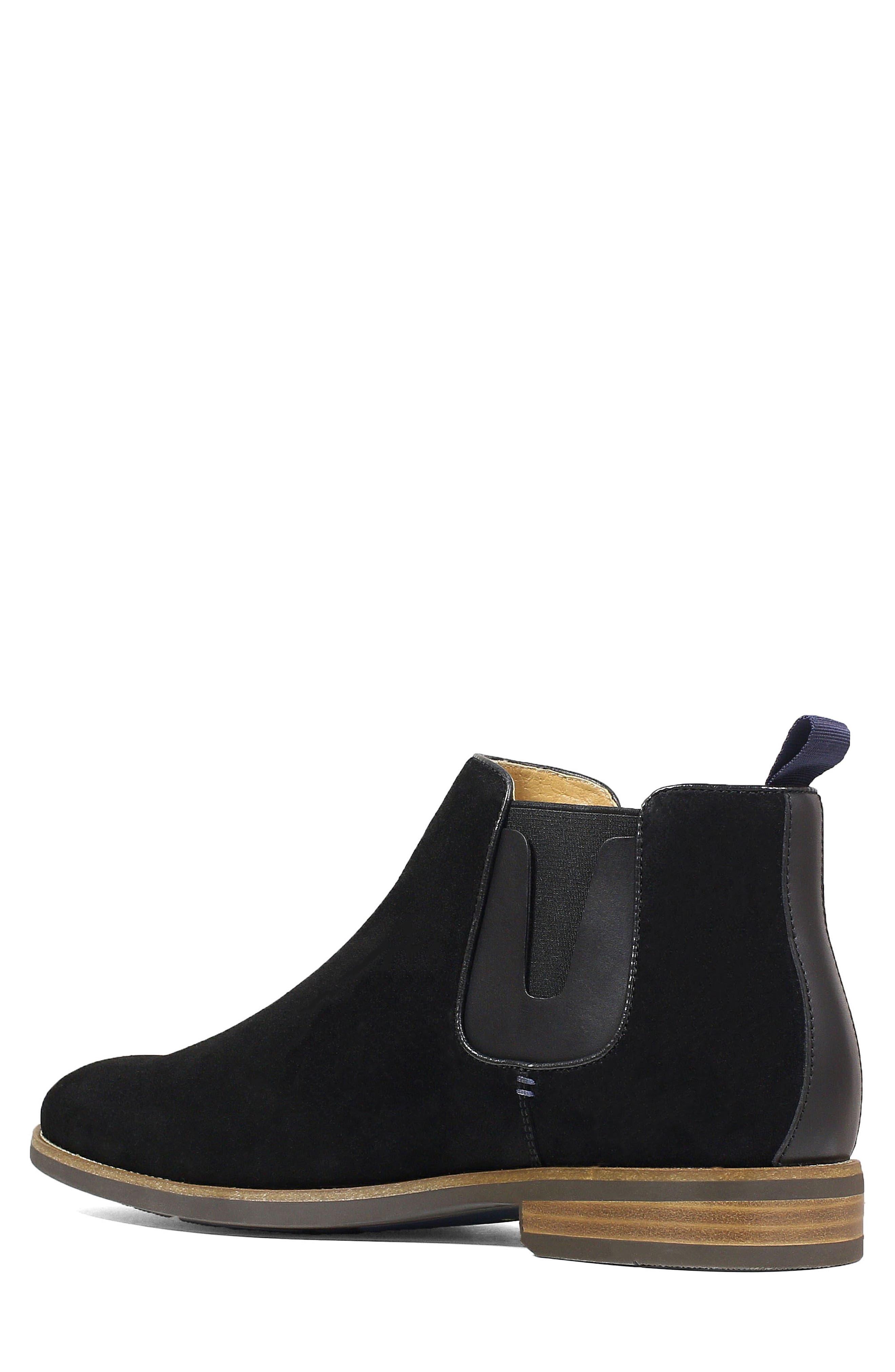 Uptown Plain Toe Mid Chelsea Boot,                             Alternate thumbnail 2, color,                             BLACK SUEDE