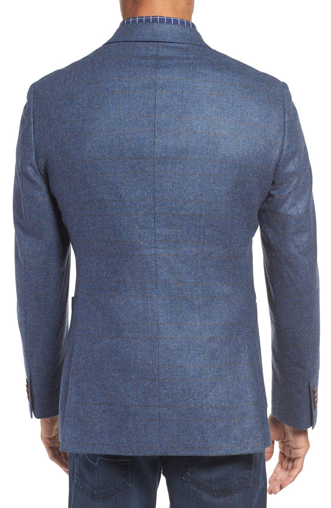 'Clareinch' Herringbone Plaid Sport Coat,                             Alternate thumbnail 6, color,