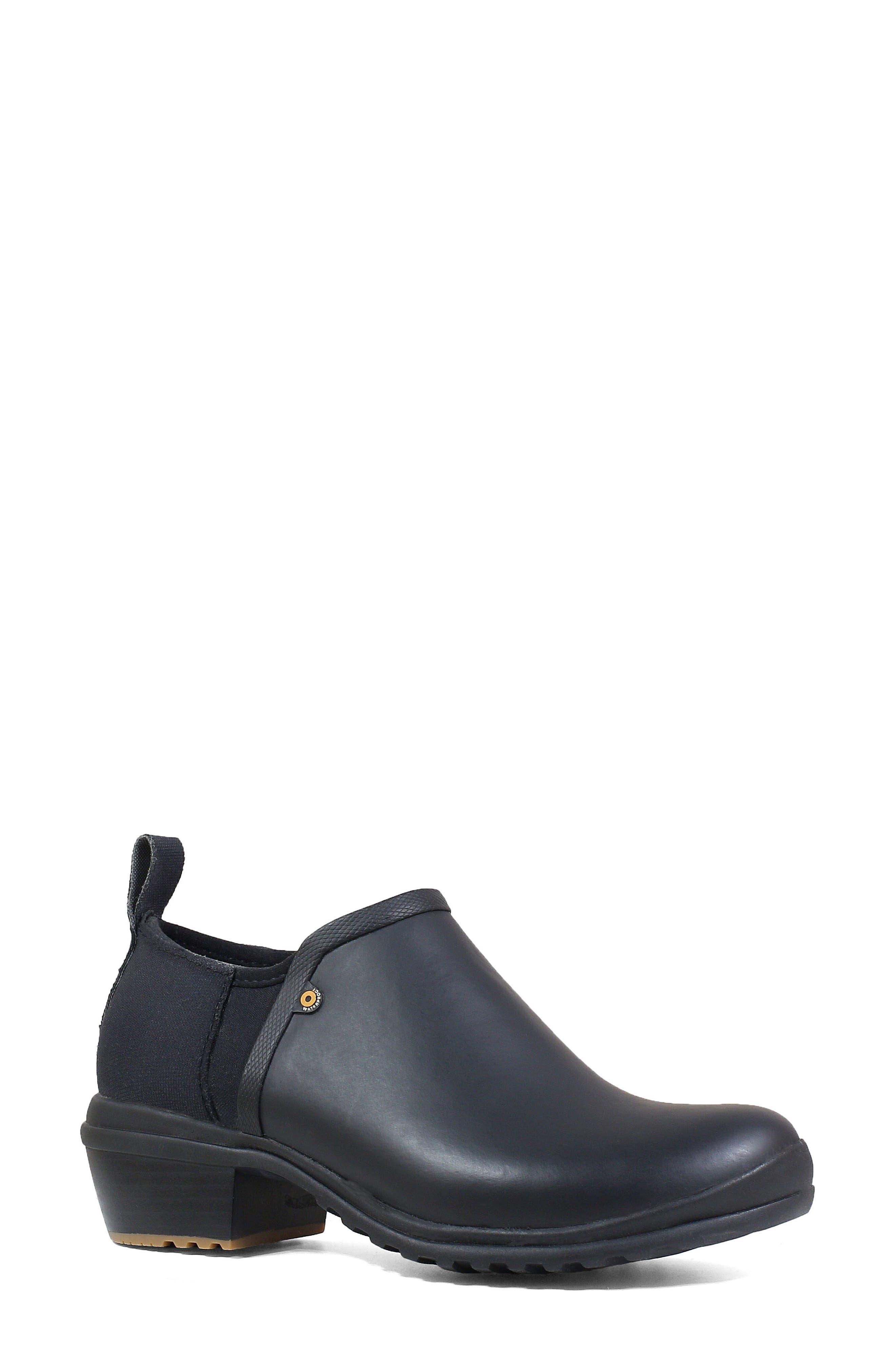 Bogs Vista Rain Ankle Waterproof Boot, Black