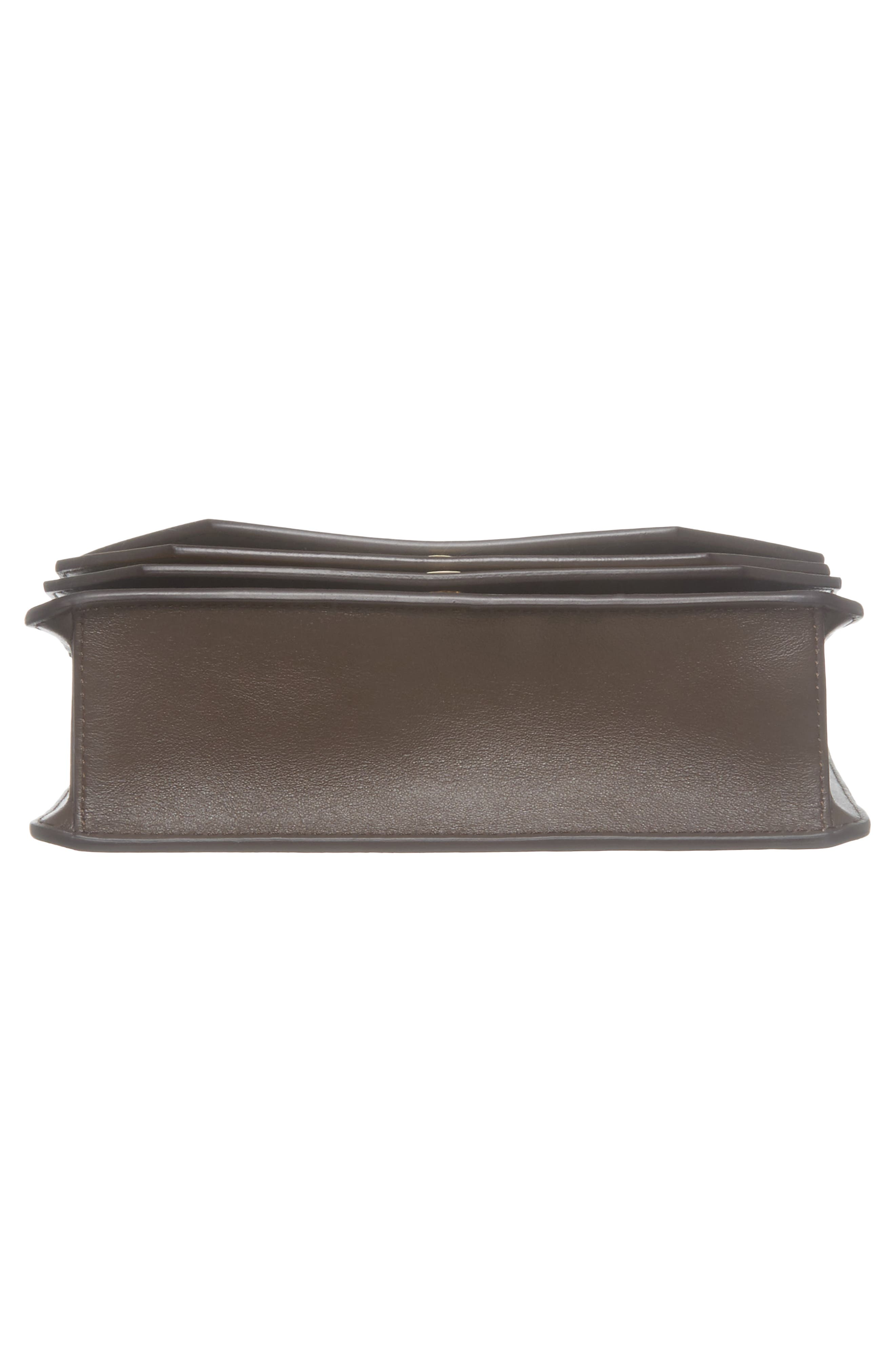 Multiflap Calfskin Leather Clutch,                             Alternate thumbnail 6, color,                             401