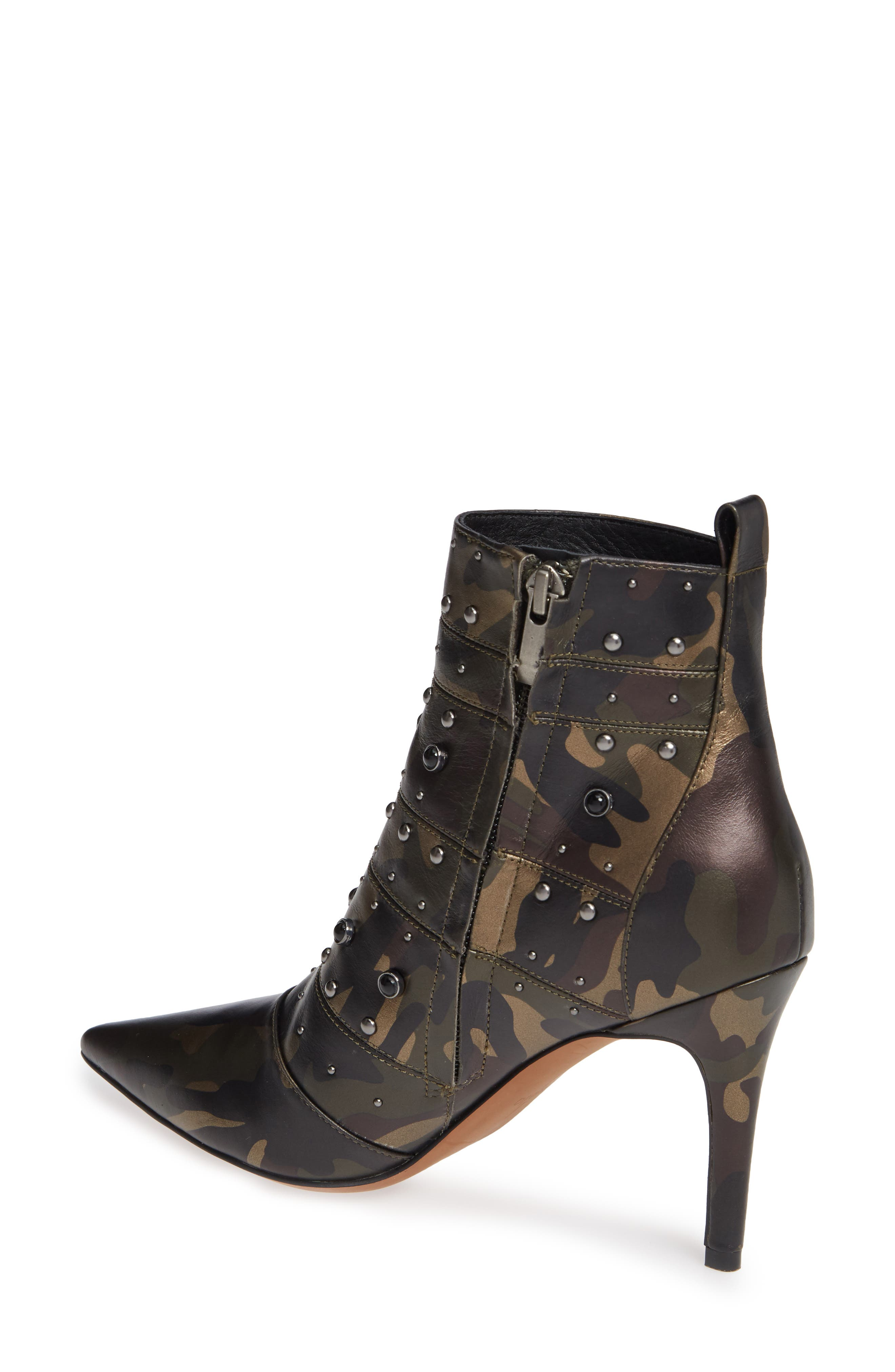 Nara Studded Bootie,                             Alternate thumbnail 2, color,                             CAMO LEATHER