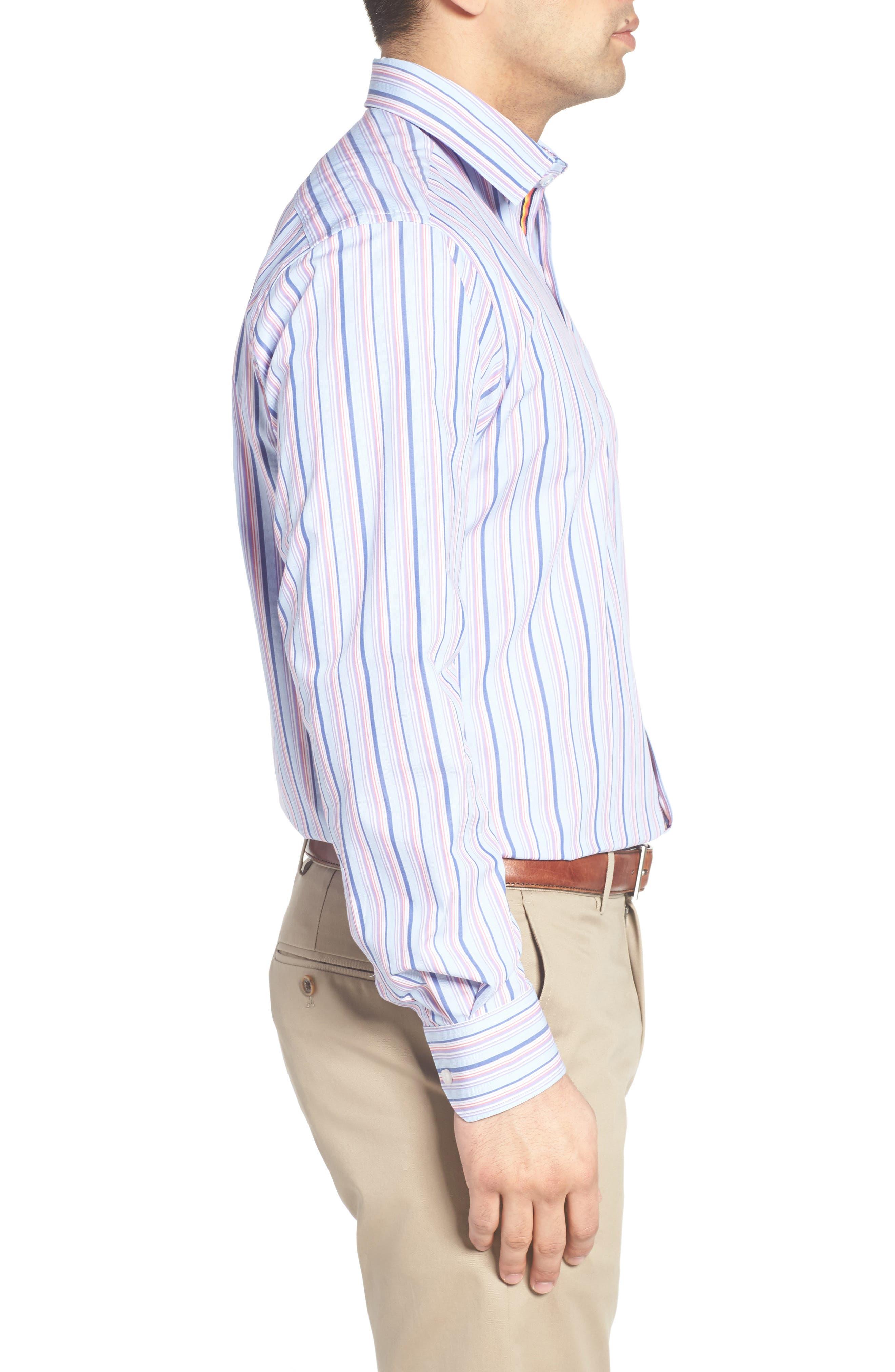 Holly Stripe Sport Shirt,                             Alternate thumbnail 3, color,