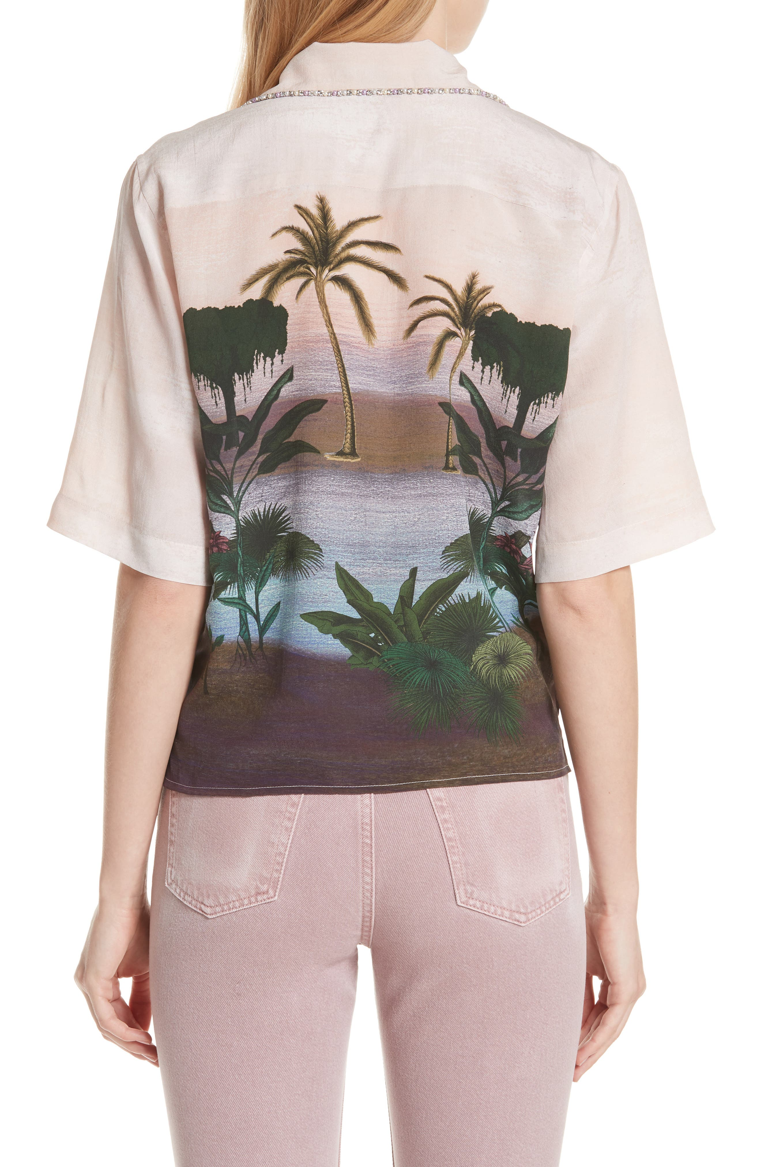 Embellished Tropical Top,                             Alternate thumbnail 2, color,                             650