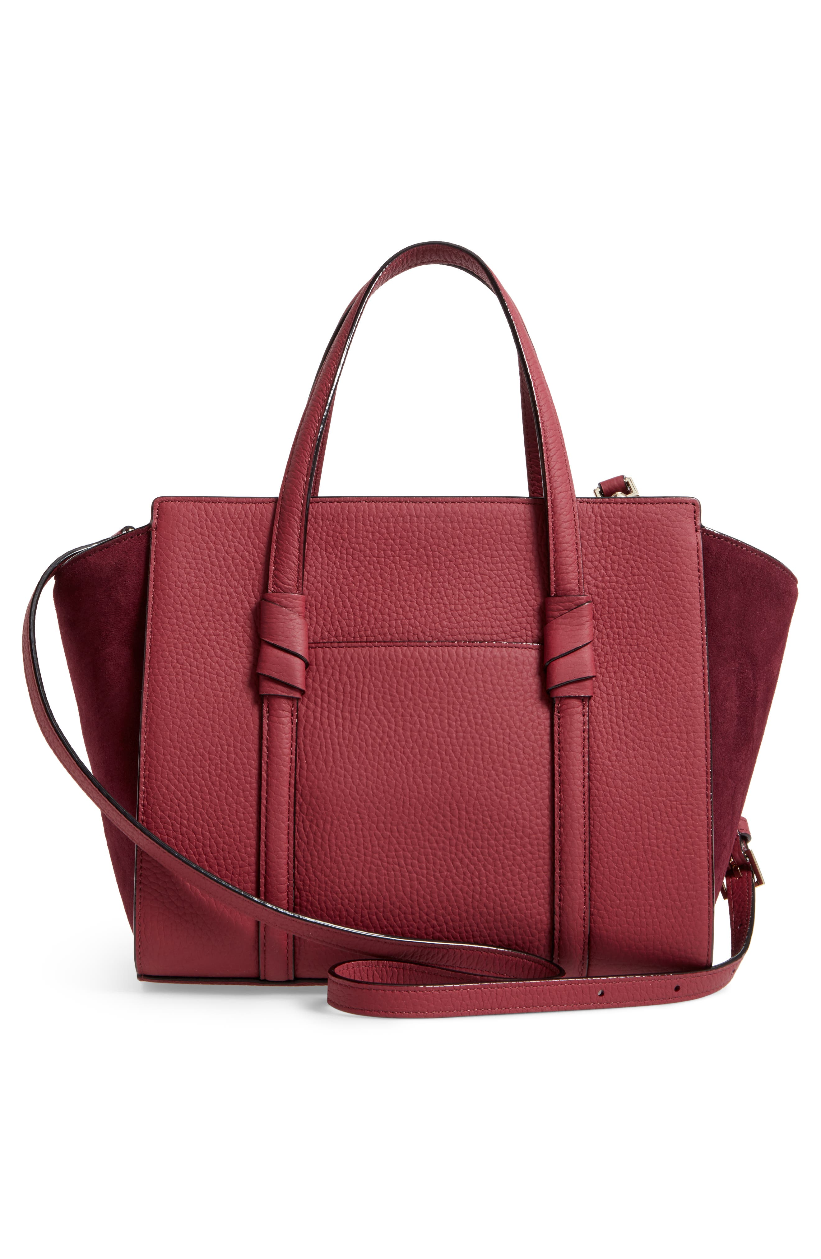 daniels drive - small abigail suede & leather tote,                             Alternate thumbnail 3, color,                             633