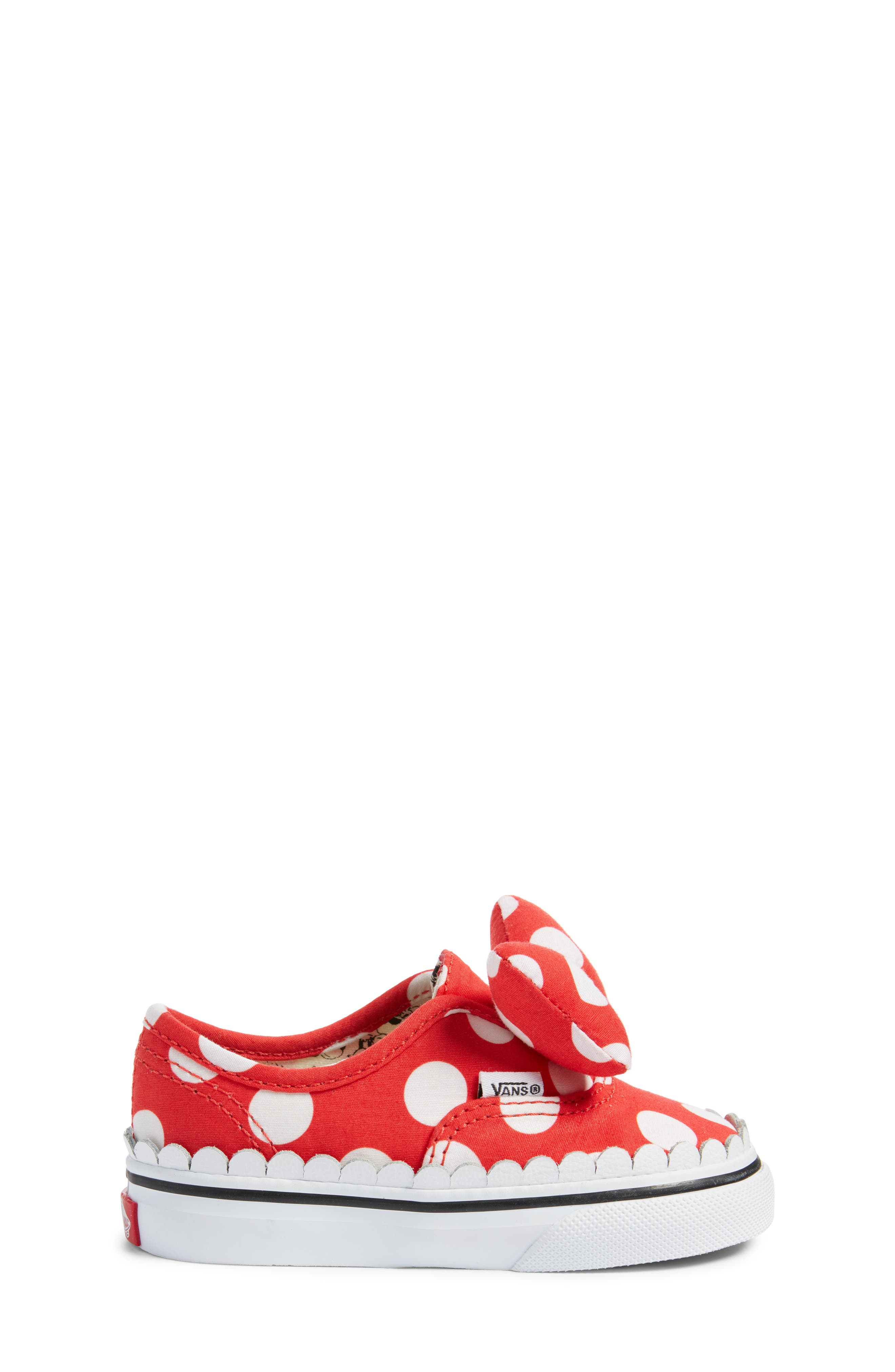 x Disney Authentic Gore Minnie Mouse Bow Slip-On Sneaker,                             Alternate thumbnail 3, color,                             DISNEY MINNIE BOW TRUE WHITE