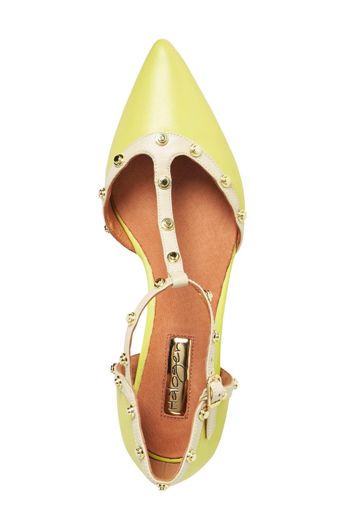 'Olson' Pointy Toe Studded T-Strap Flat,                             Alternate thumbnail 35, color,