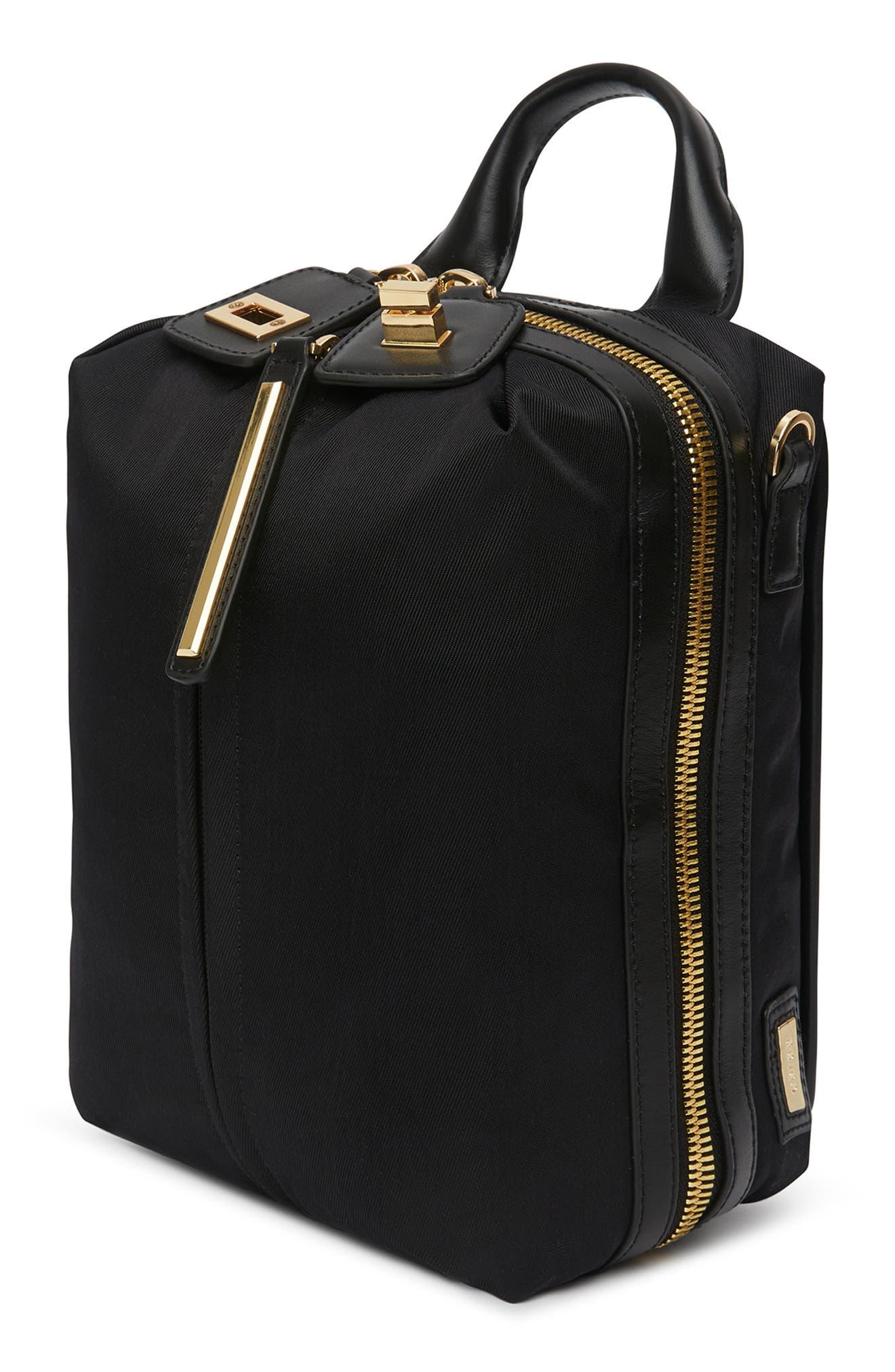 Studio 2 Mini Duffel Bag,                             Alternate thumbnail 4, color,                             BLACK GOLD