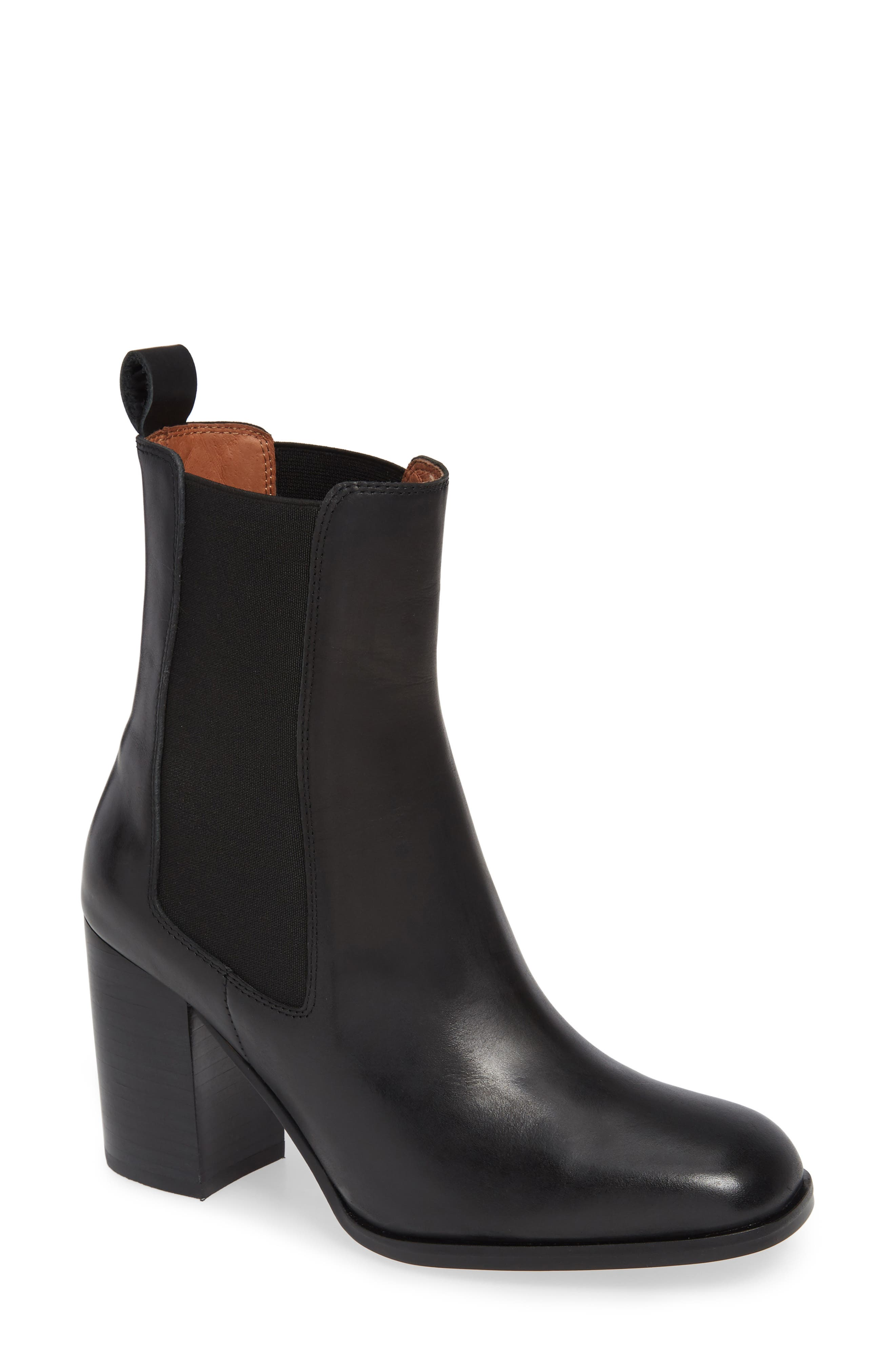 ALIAS MAE Nyala Chelsea Bootie in Black Leather