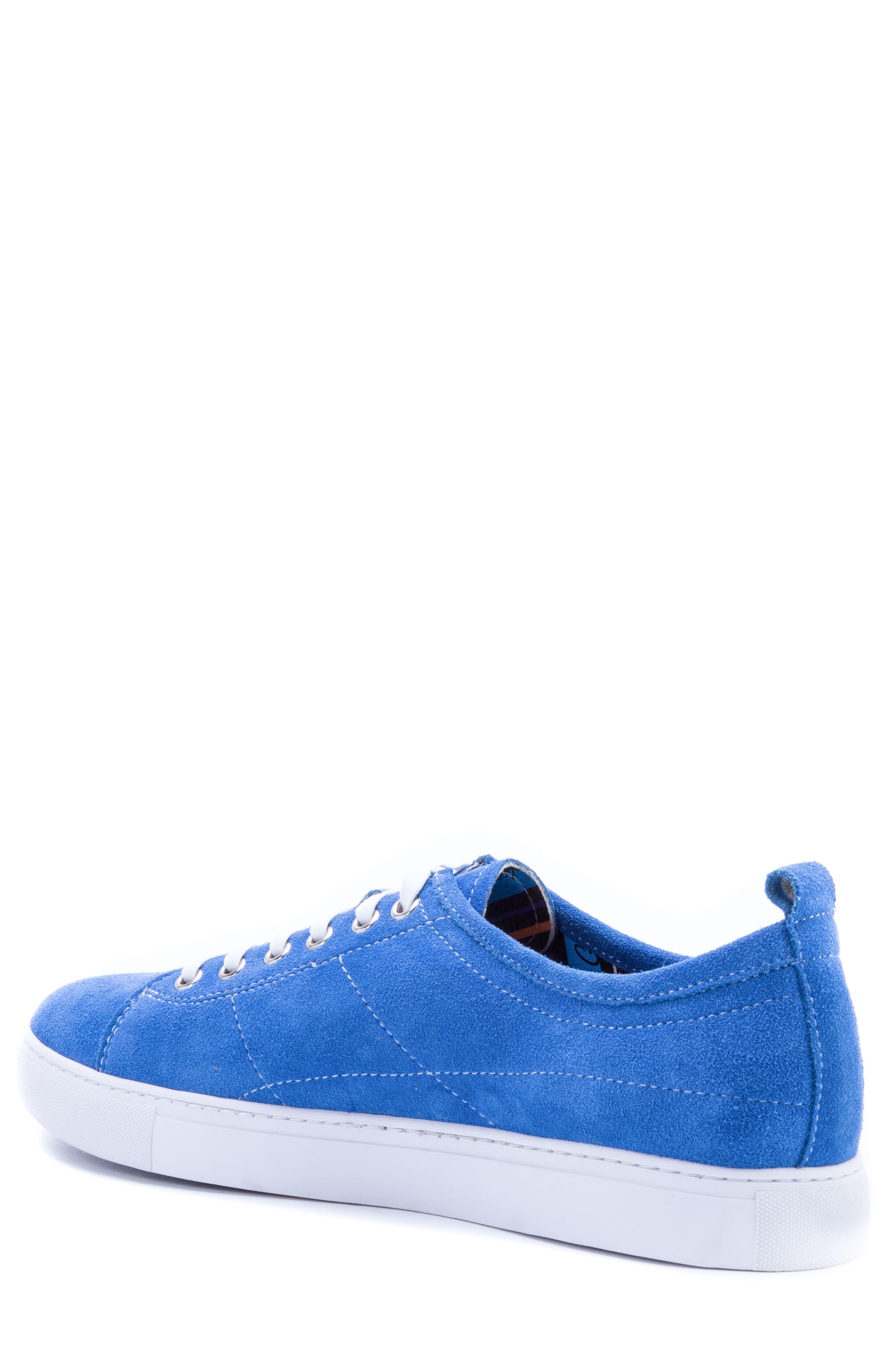Ernesto Low Top Sneaker,                             Alternate thumbnail 2, color,                             ROYAL SUEDE