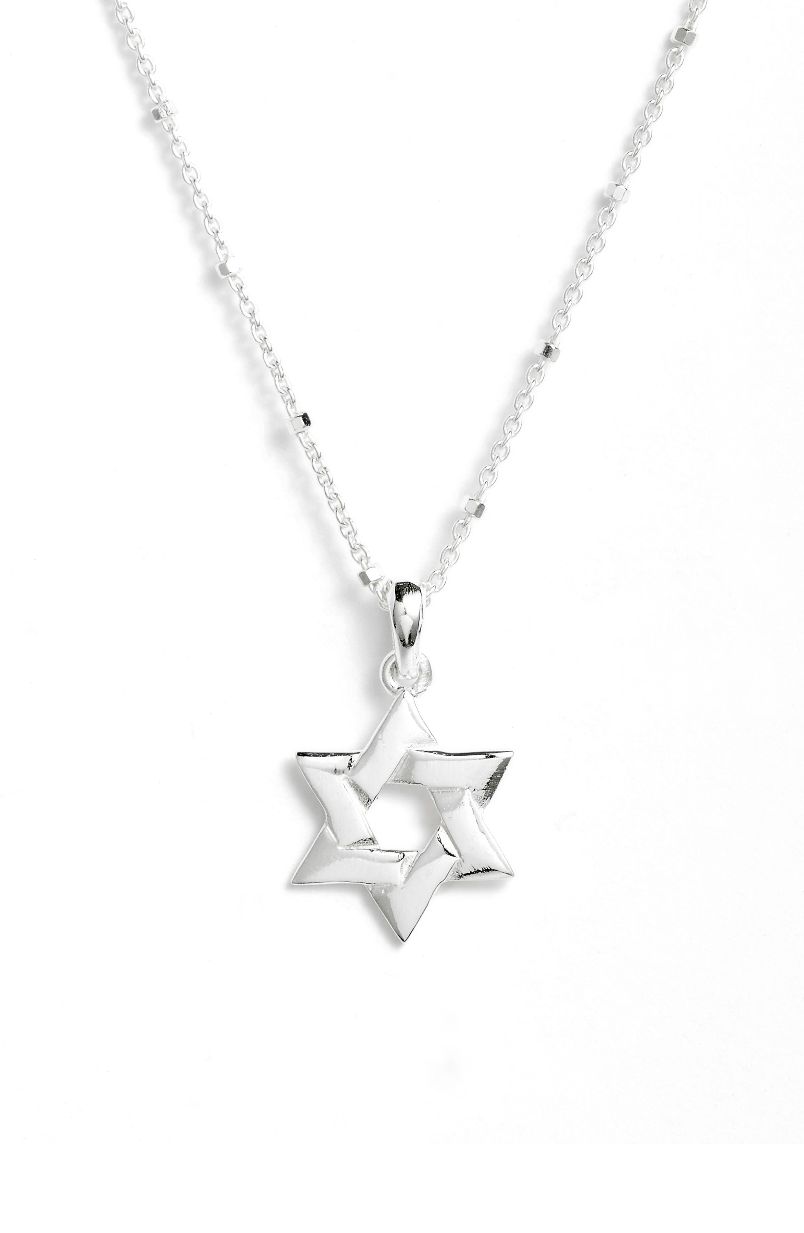 Star of David Pendant Necklace,                         Main,                         color,