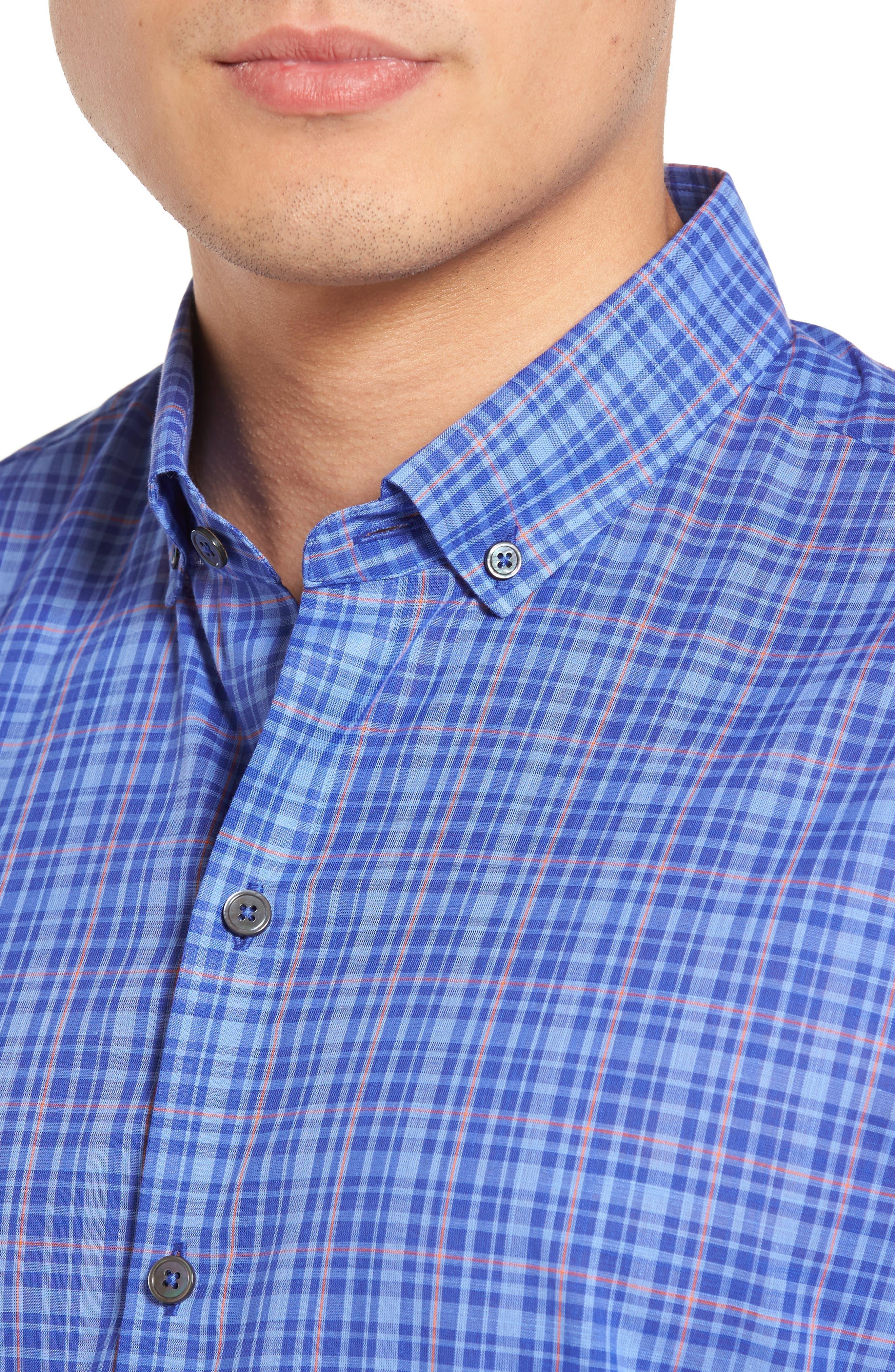 ZACHARY PRELL,                             Shammas Plaid Sport Shirt,                             Alternate thumbnail 4, color,                             432