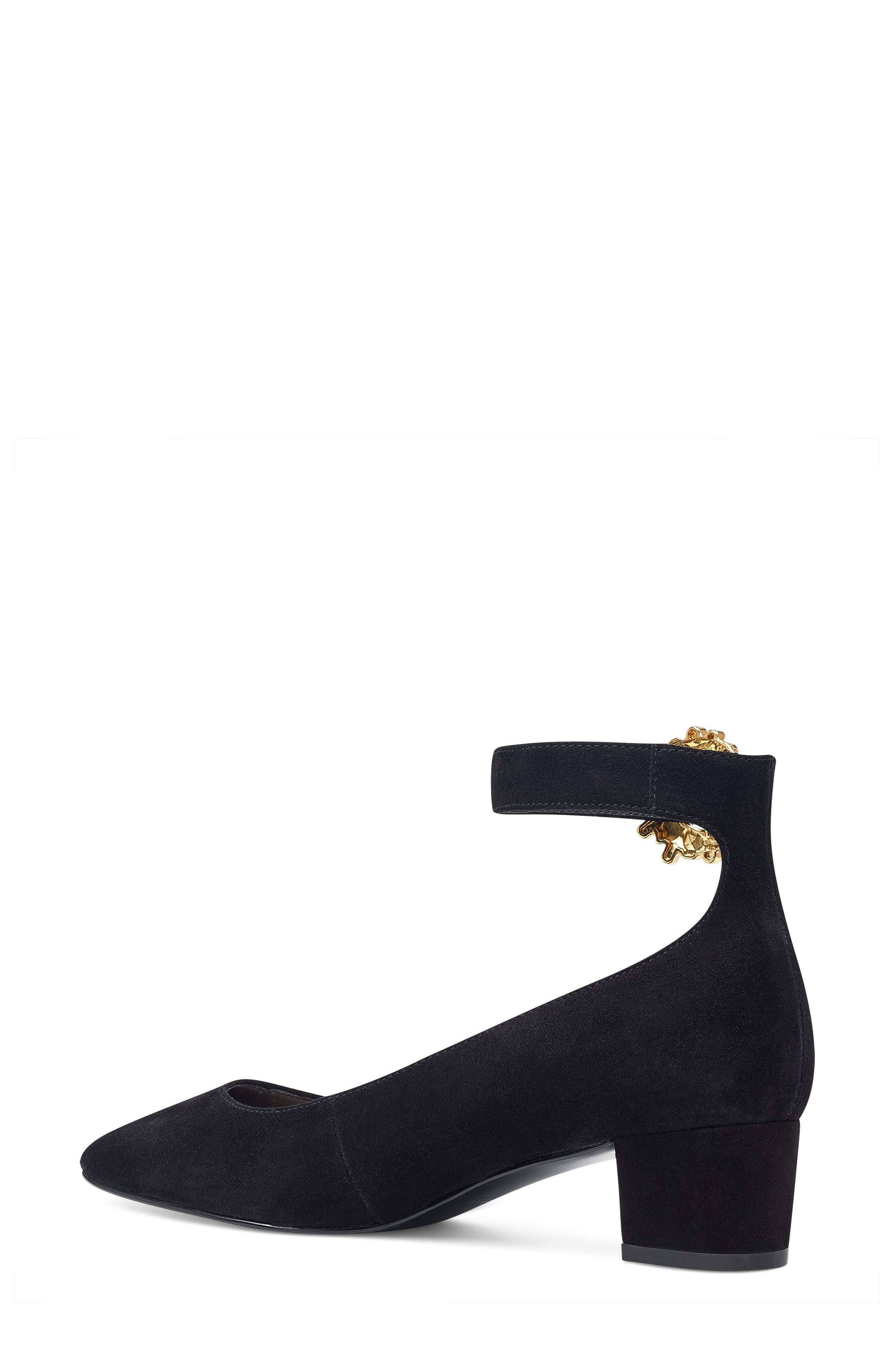 Bartly Ankle Strap Pump,                             Alternate thumbnail 2, color,                             001