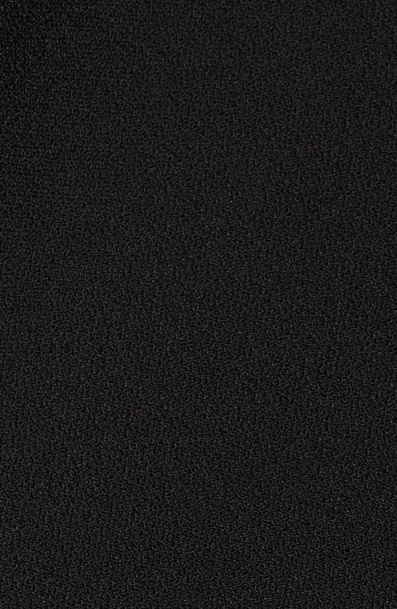 Drape Front Crepe Jacket,                             Alternate thumbnail 6, color,                             001