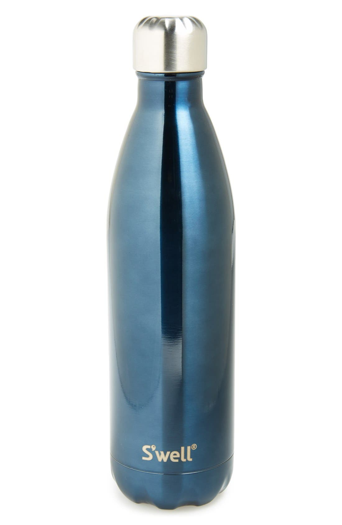 'Shimmer Collection' Stainless Steel Water Bottle,                             Main thumbnail 1, color,                             400