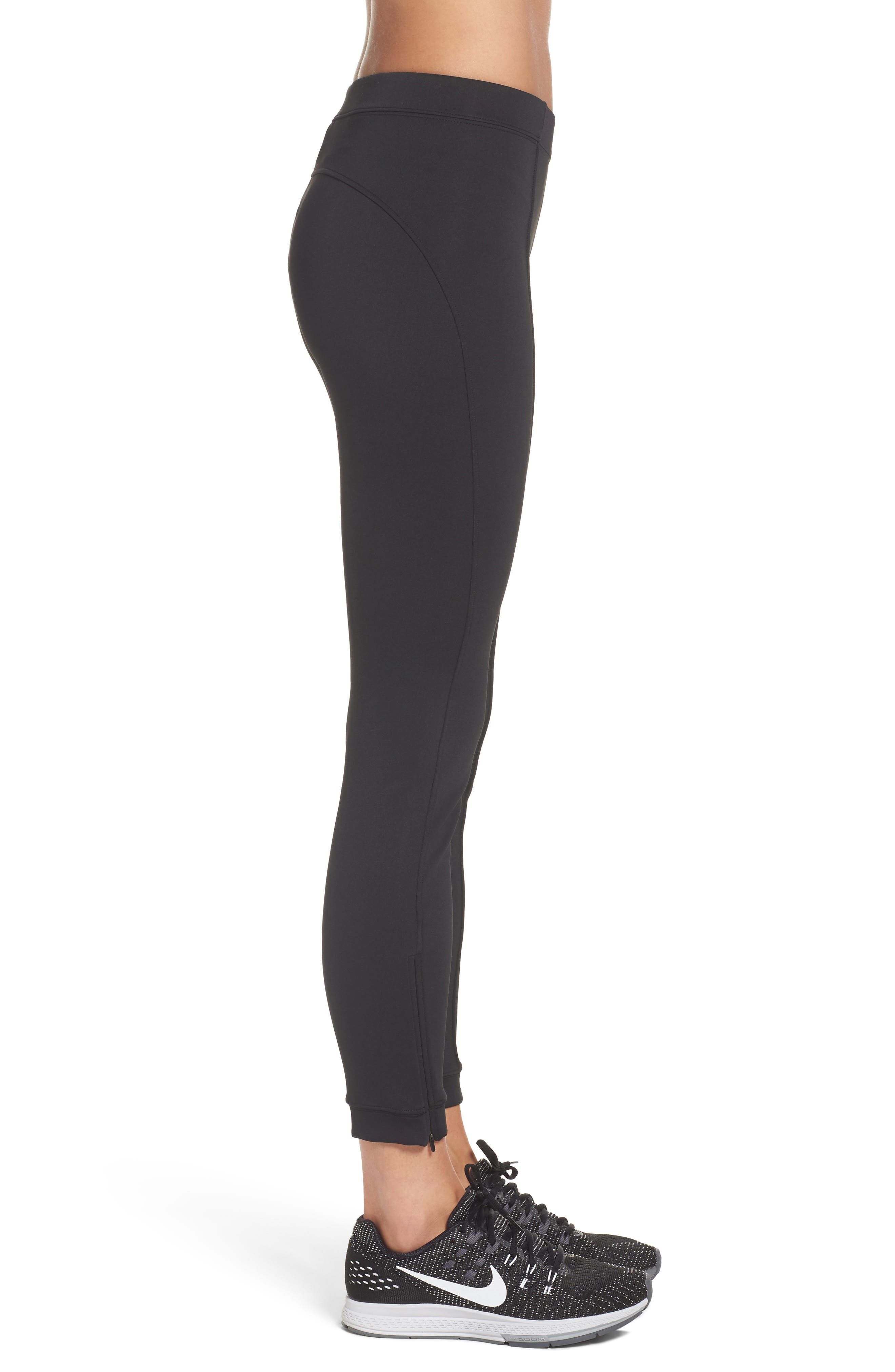 Zip Ankle Leggings,                             Alternate thumbnail 3, color,                             010