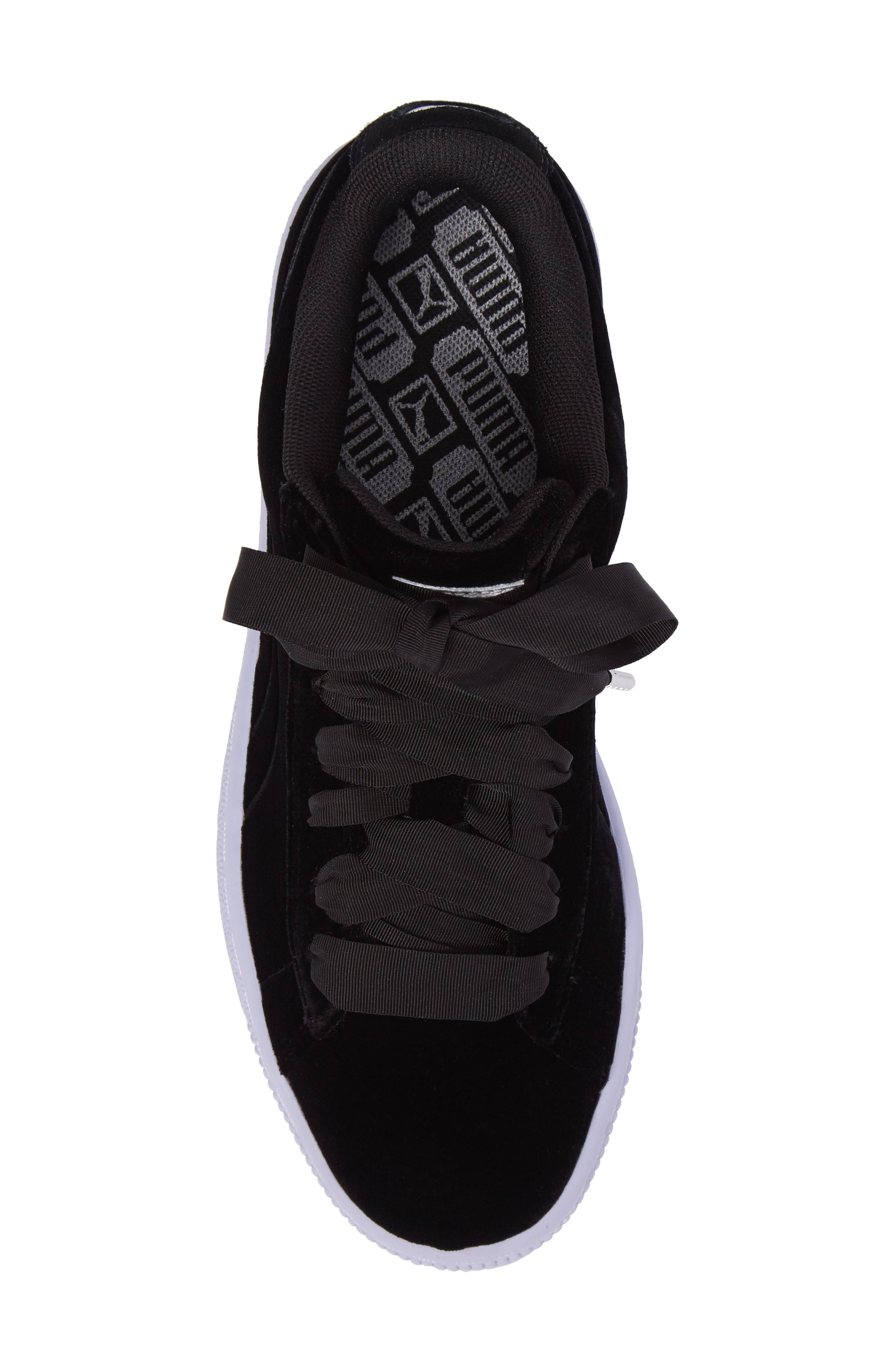 Basket Classic Velour Sneaker,                             Alternate thumbnail 5, color,                             001