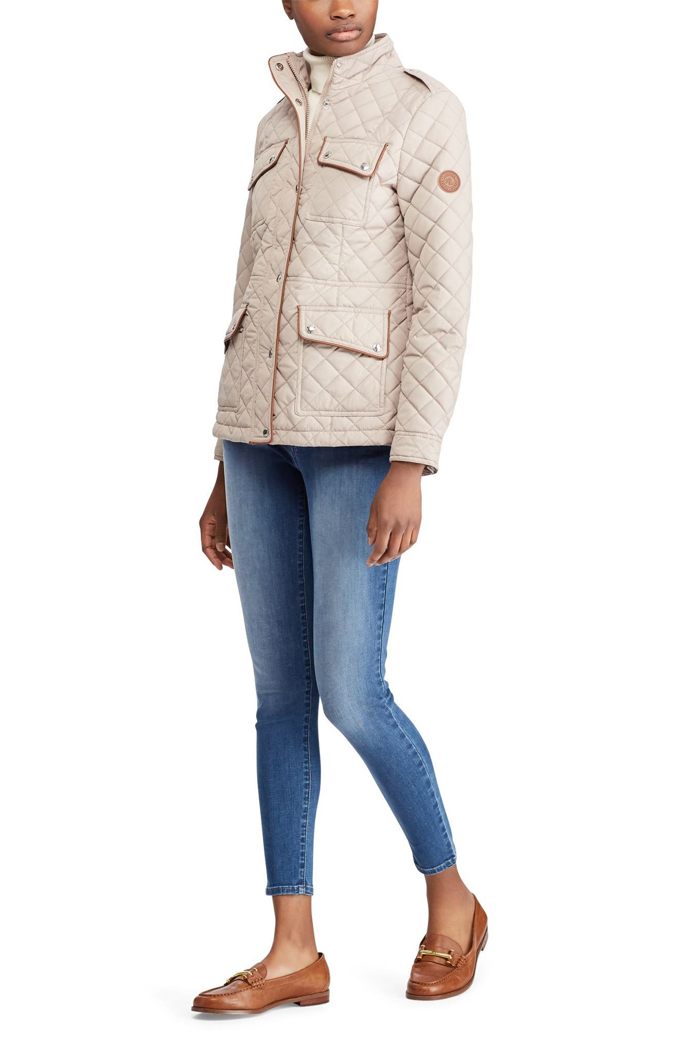 Quilted Field Jacket,                             Alternate thumbnail 3, color,                             286